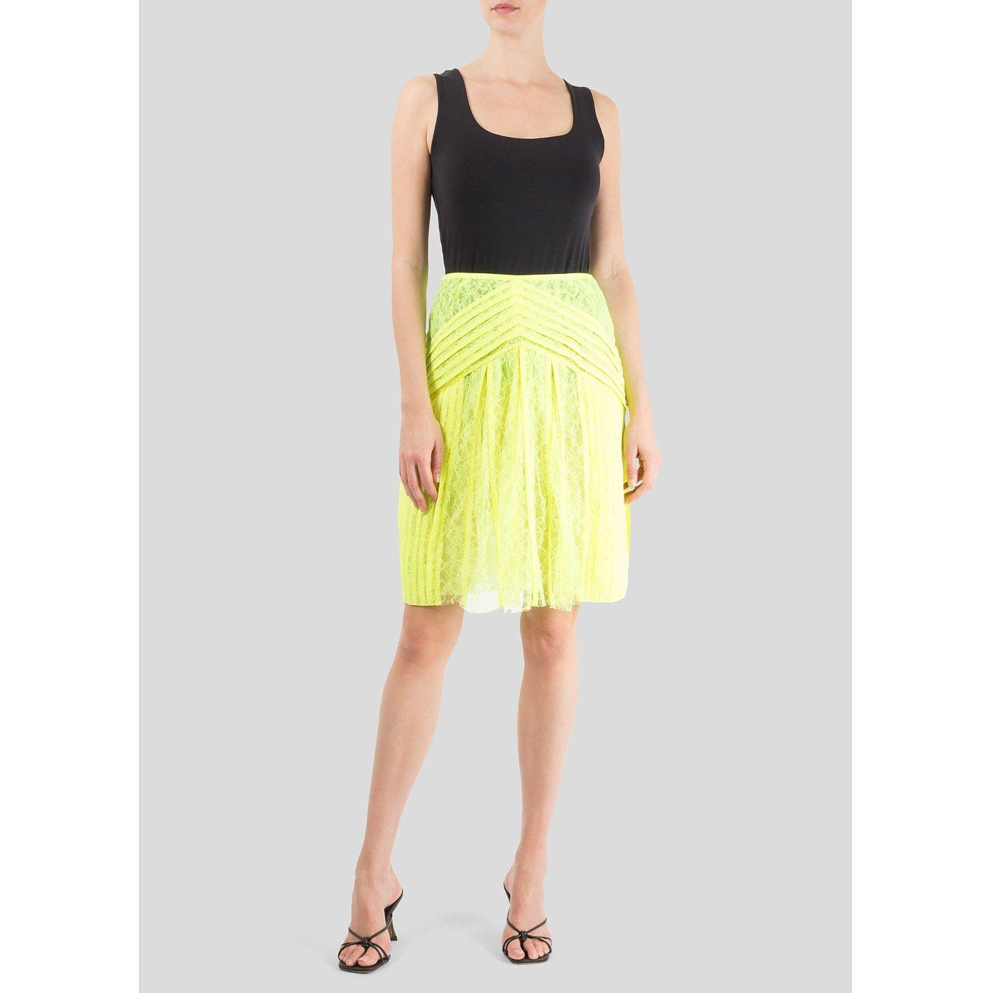 Christopher Kane Keke Neon Lace Skirt