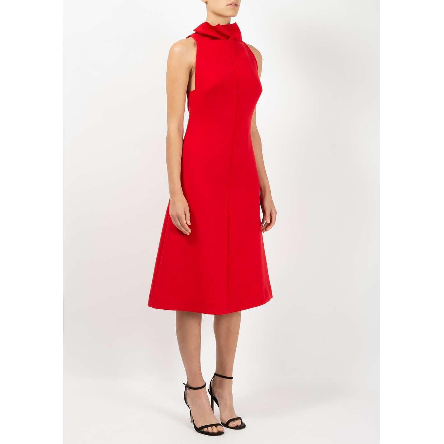 Victoria Beckham High Collar Dress