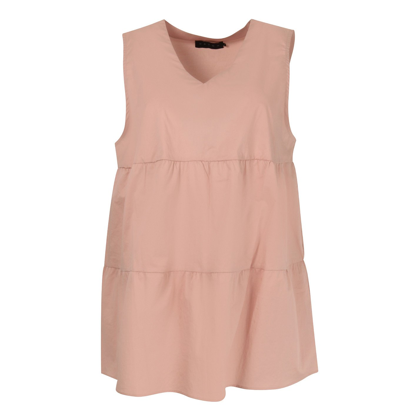 Hatch Sleeveless Tiered Top