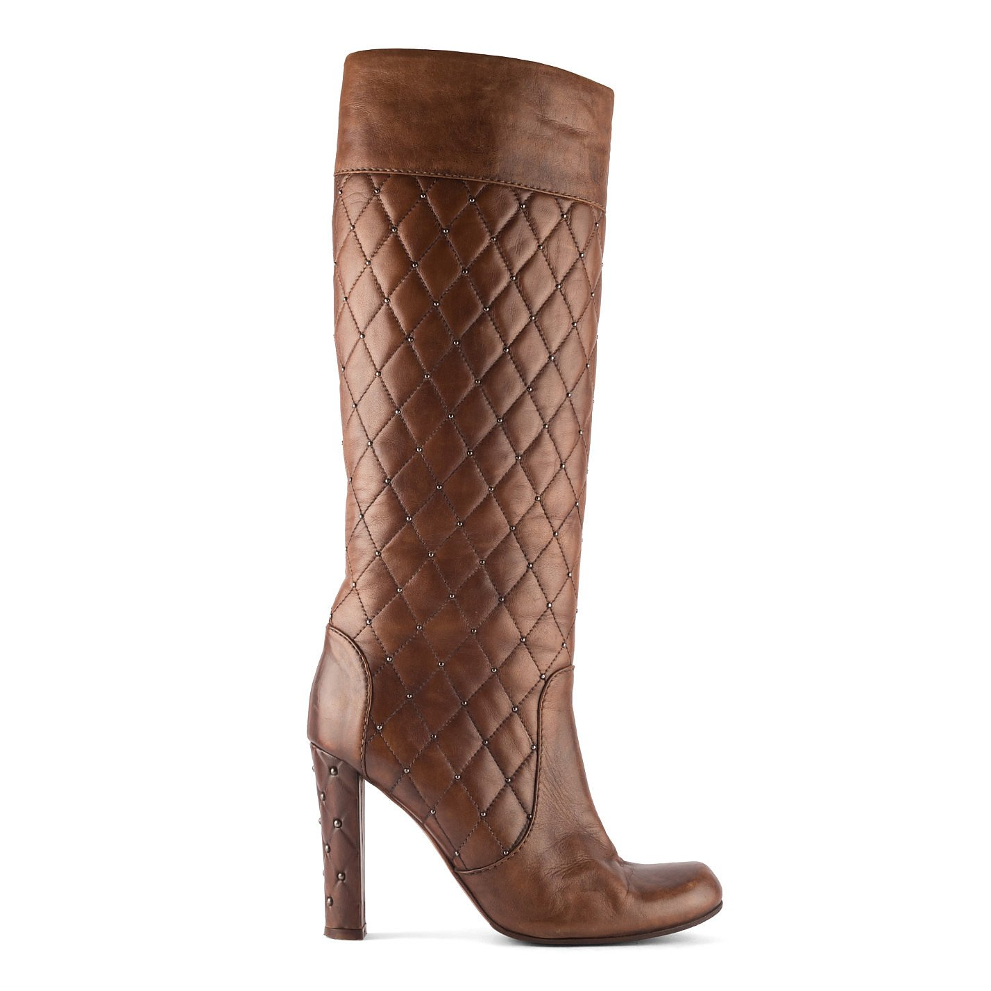 Viktor & Rolf Quilted Leather Knee High Boots
