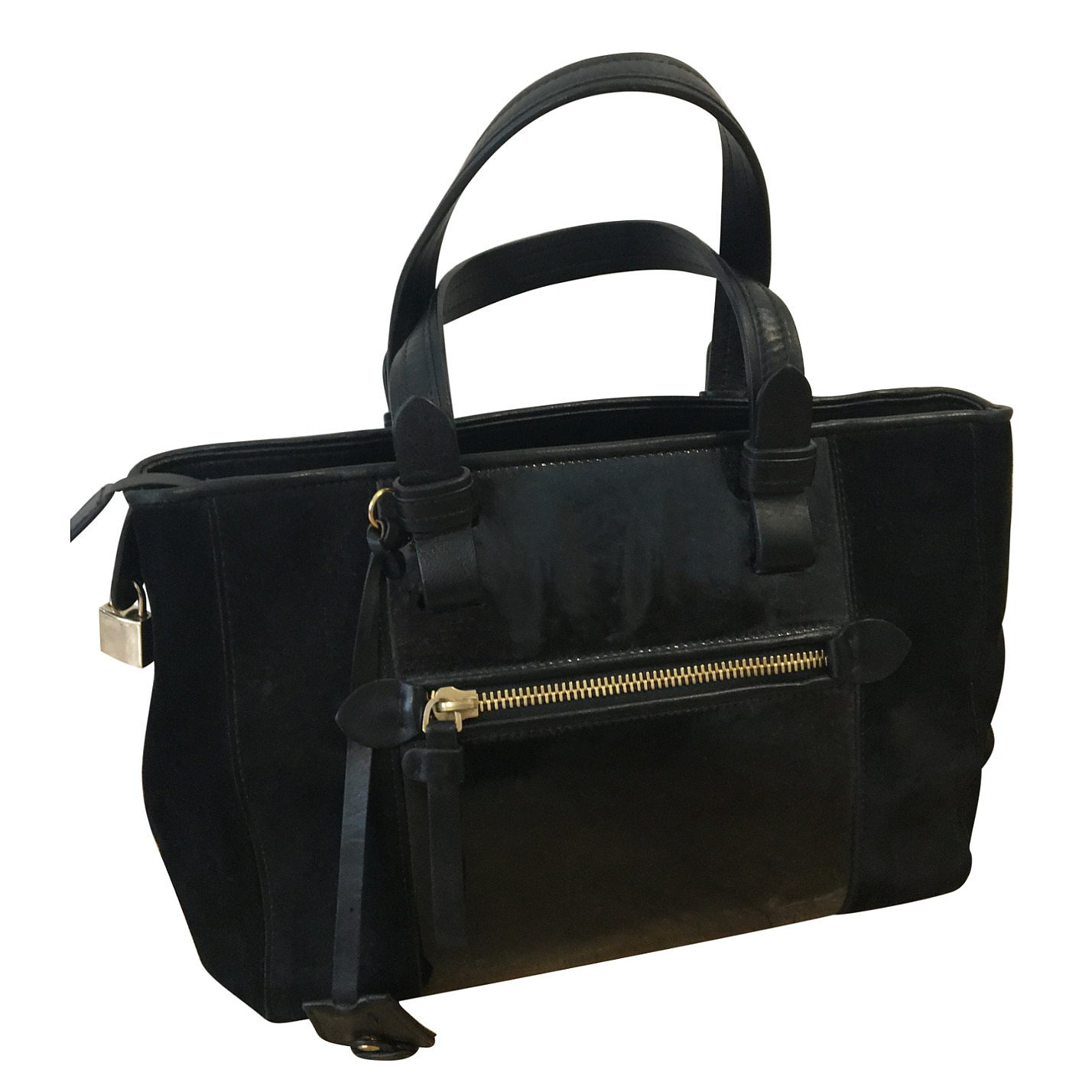 Fratelli Rosetti Patent Leather & Suede Shoulder Bag