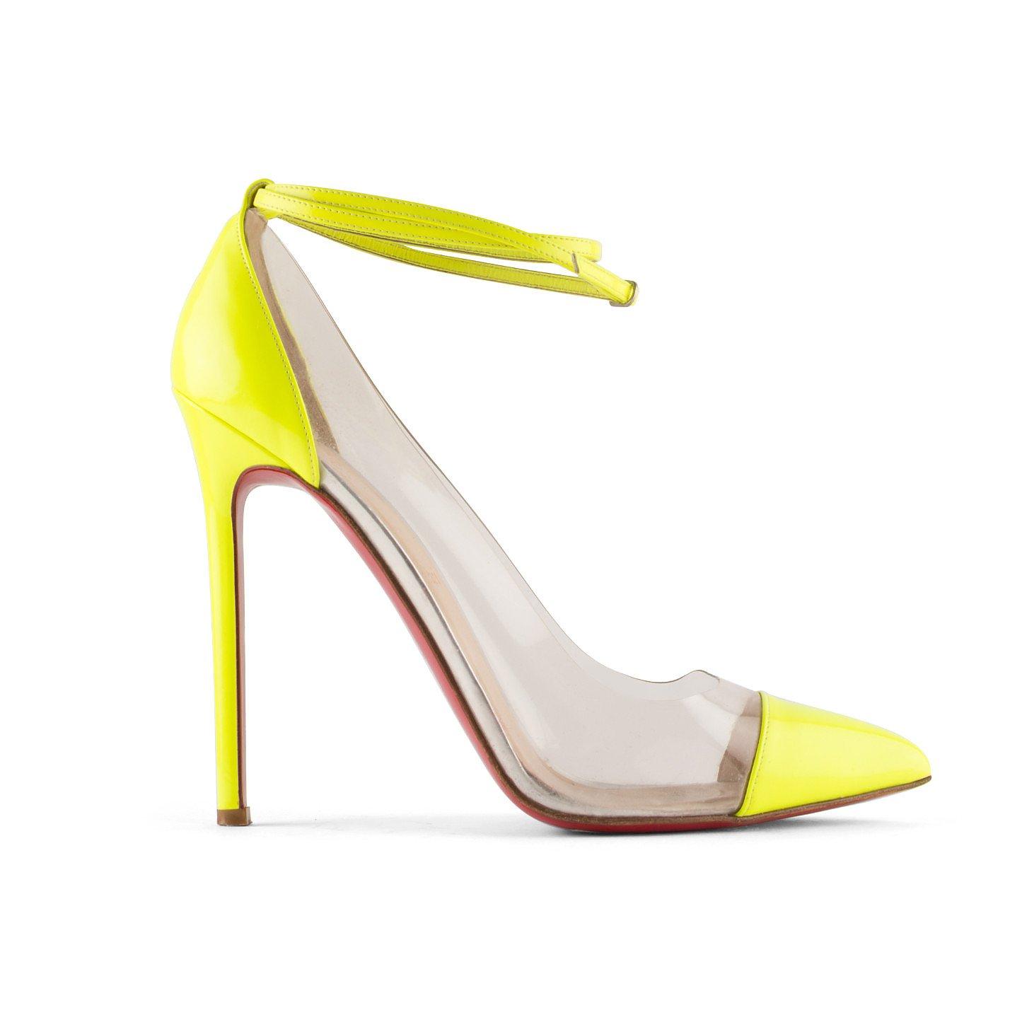 Christian Louboutin Bis Un Bout PVC Ankle Strap Pumps