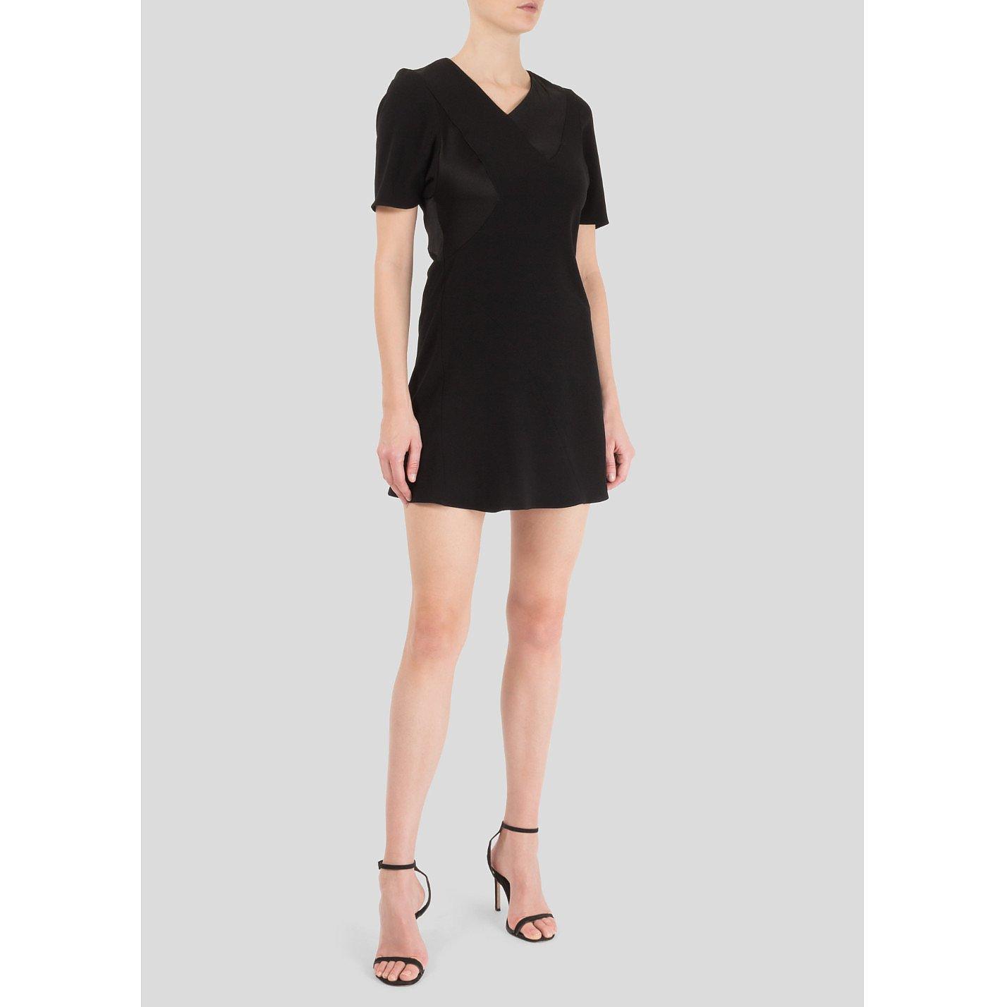 Balenciaga Mini Dress With Satin Panels