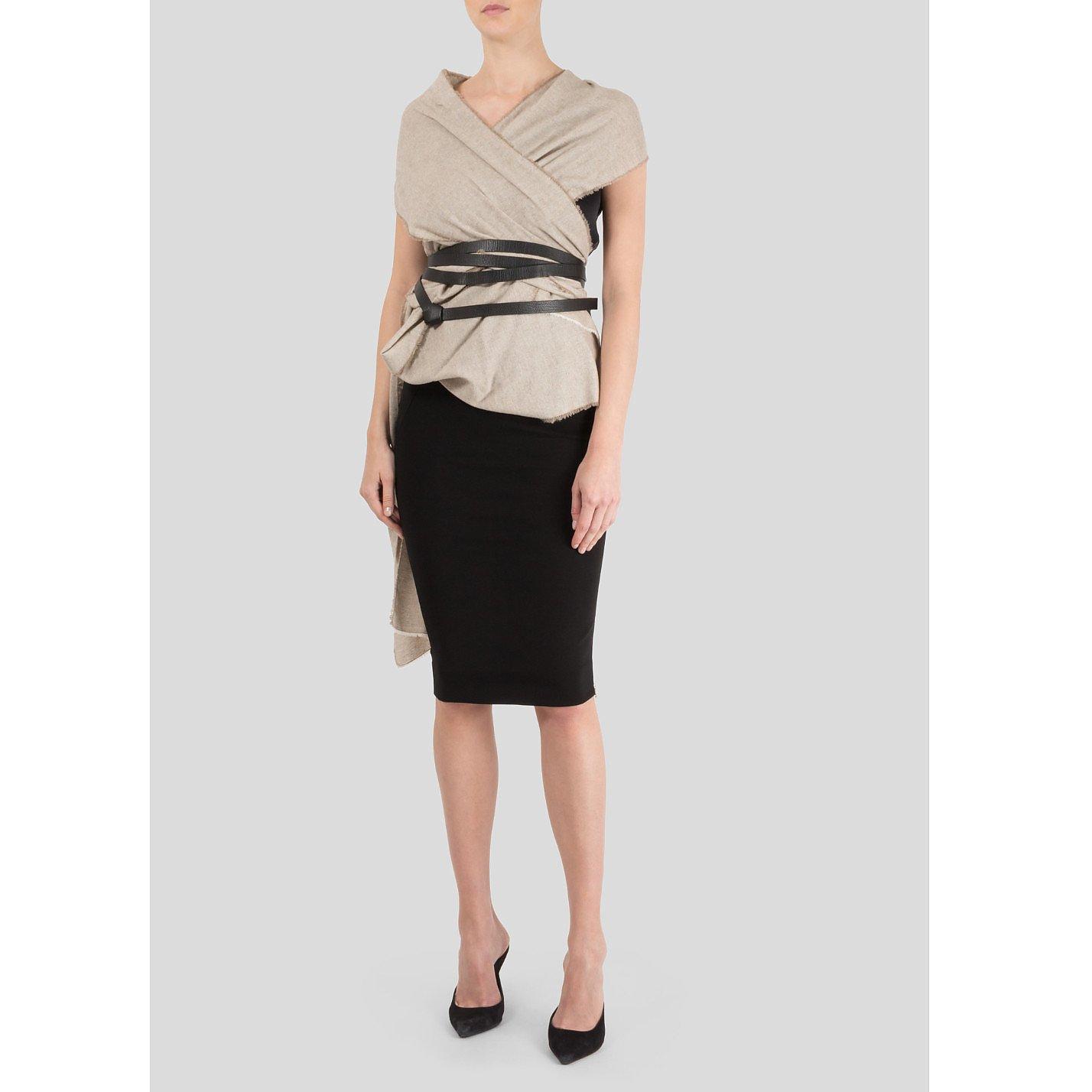 Victoria Beckham Cashmere Wrap Fitted Dress