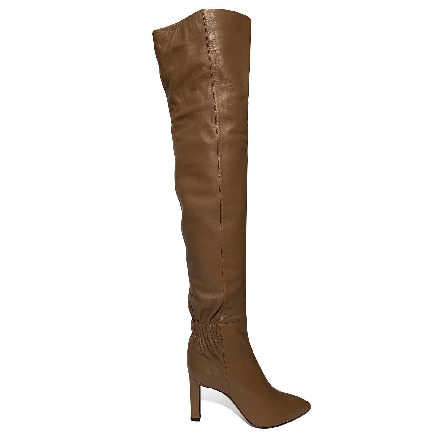 Santoni Leather Over-The-Knee Boots