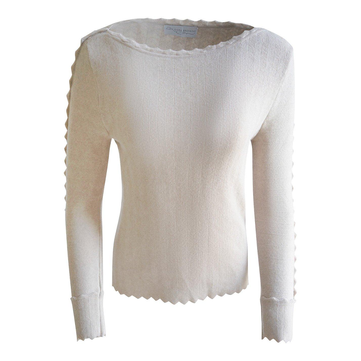 Alex Gore Browne Zig Zag-Trimmed Sweater