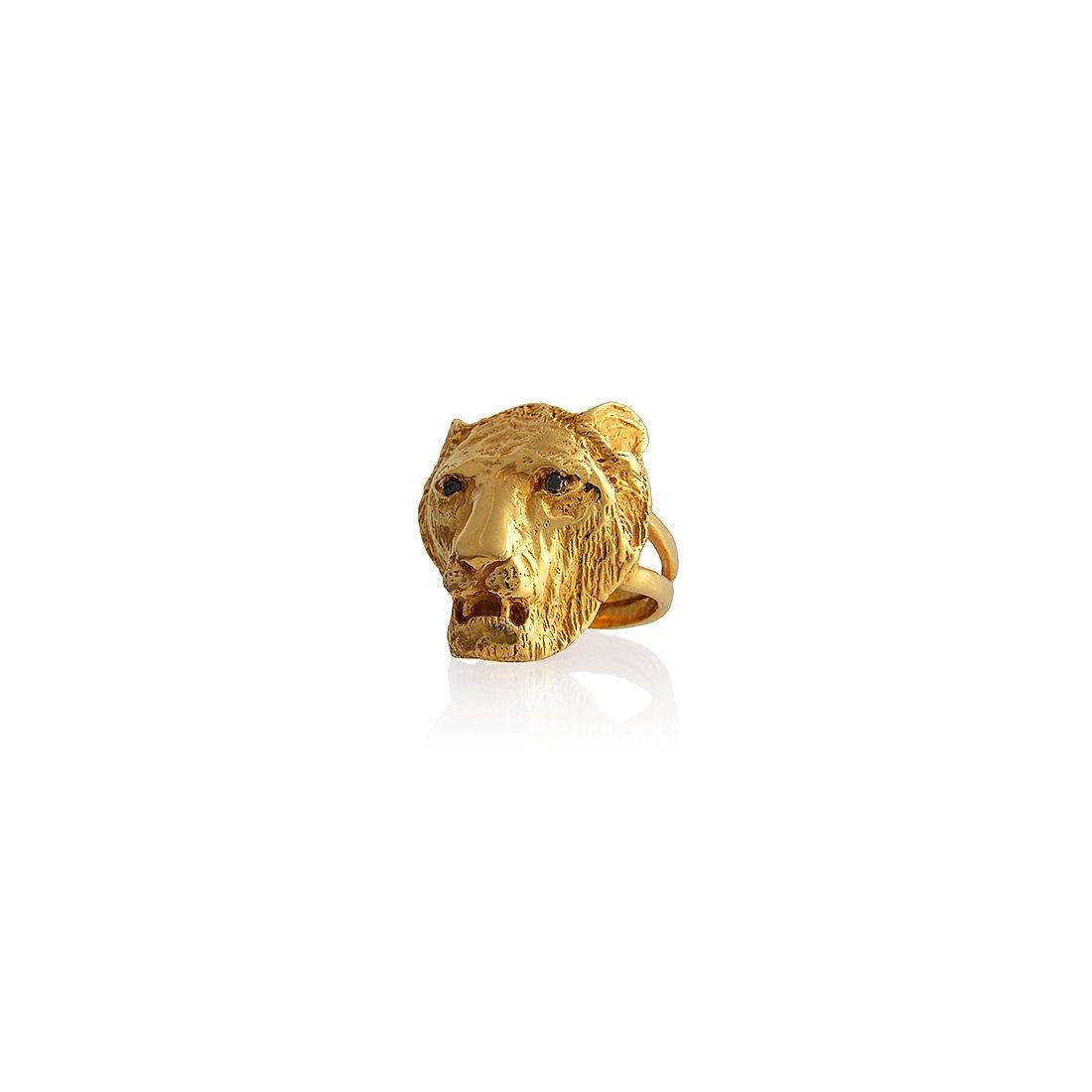 Dominique Lucas Lion Ring Gold
