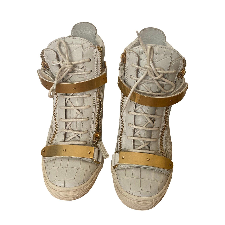 Giuseppe Zanotti Croc-Embossed High Top Sneakers