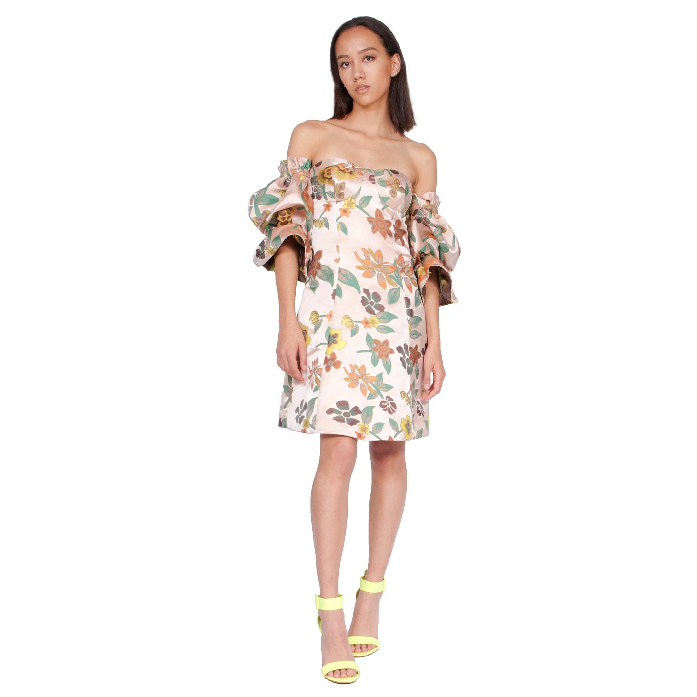 Syra J Bardot Floral Dress