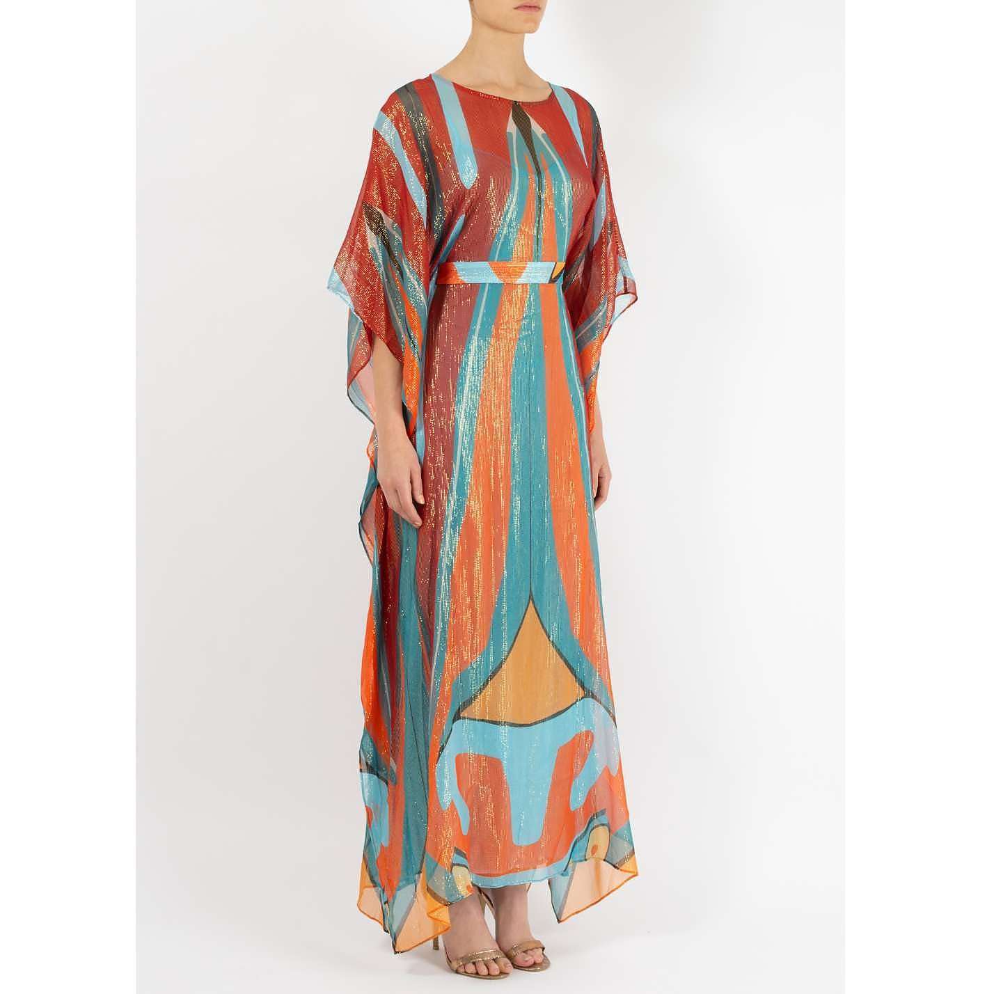 Dhela Spacebug Metallic Kaftan Dress