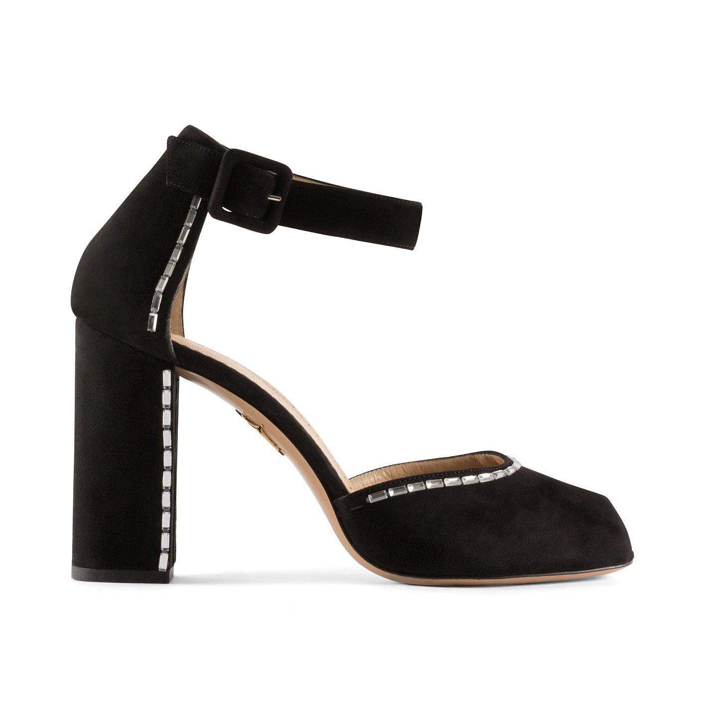 Charlotte Olympia Embellished Peep-Toe Heeled Sandals
