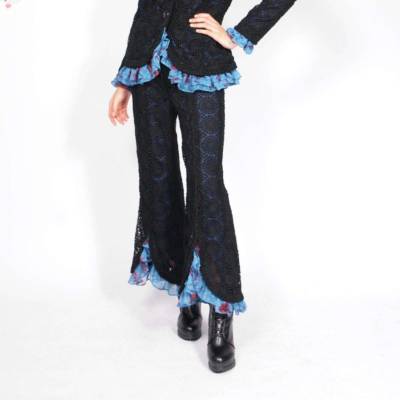 Syra J Crochet Flares With Ruffles