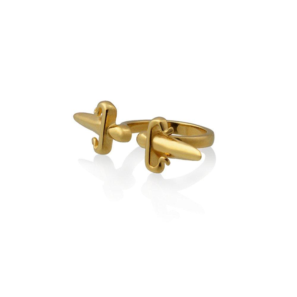 LeiVanKash Dagger Double Ring