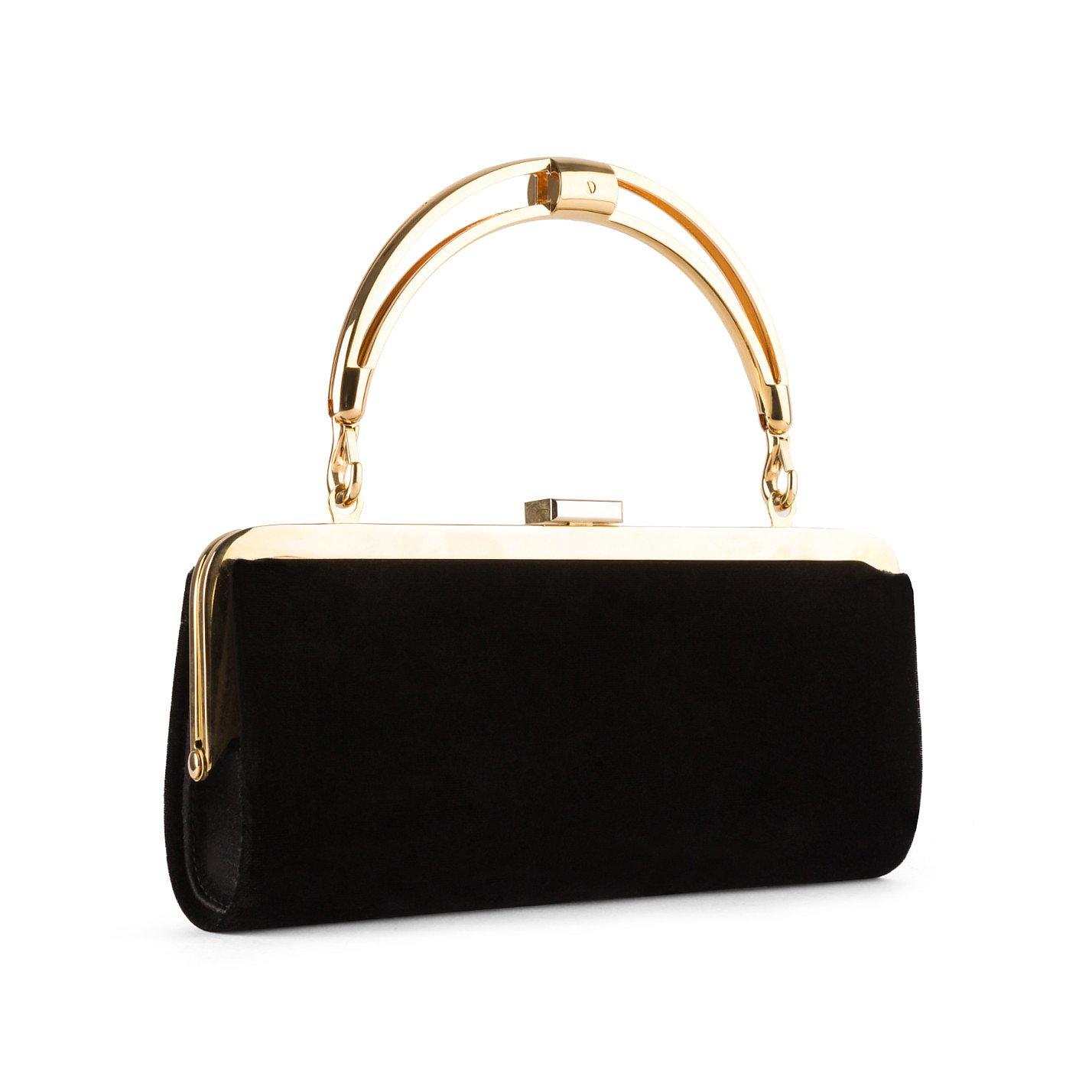 Balmain Velvet Clutch Bag