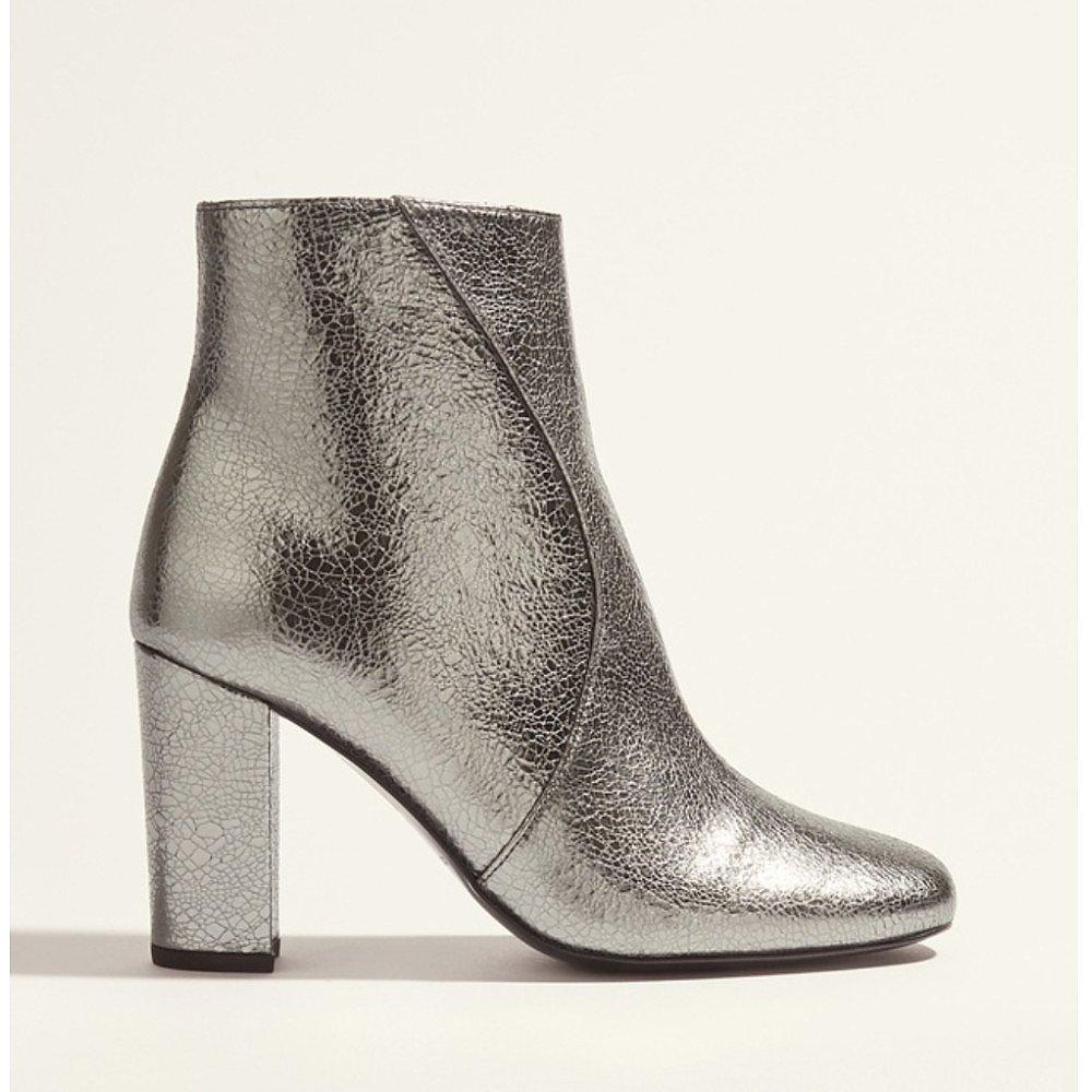 Karen Millen Metallic Heeled Ankle Boots