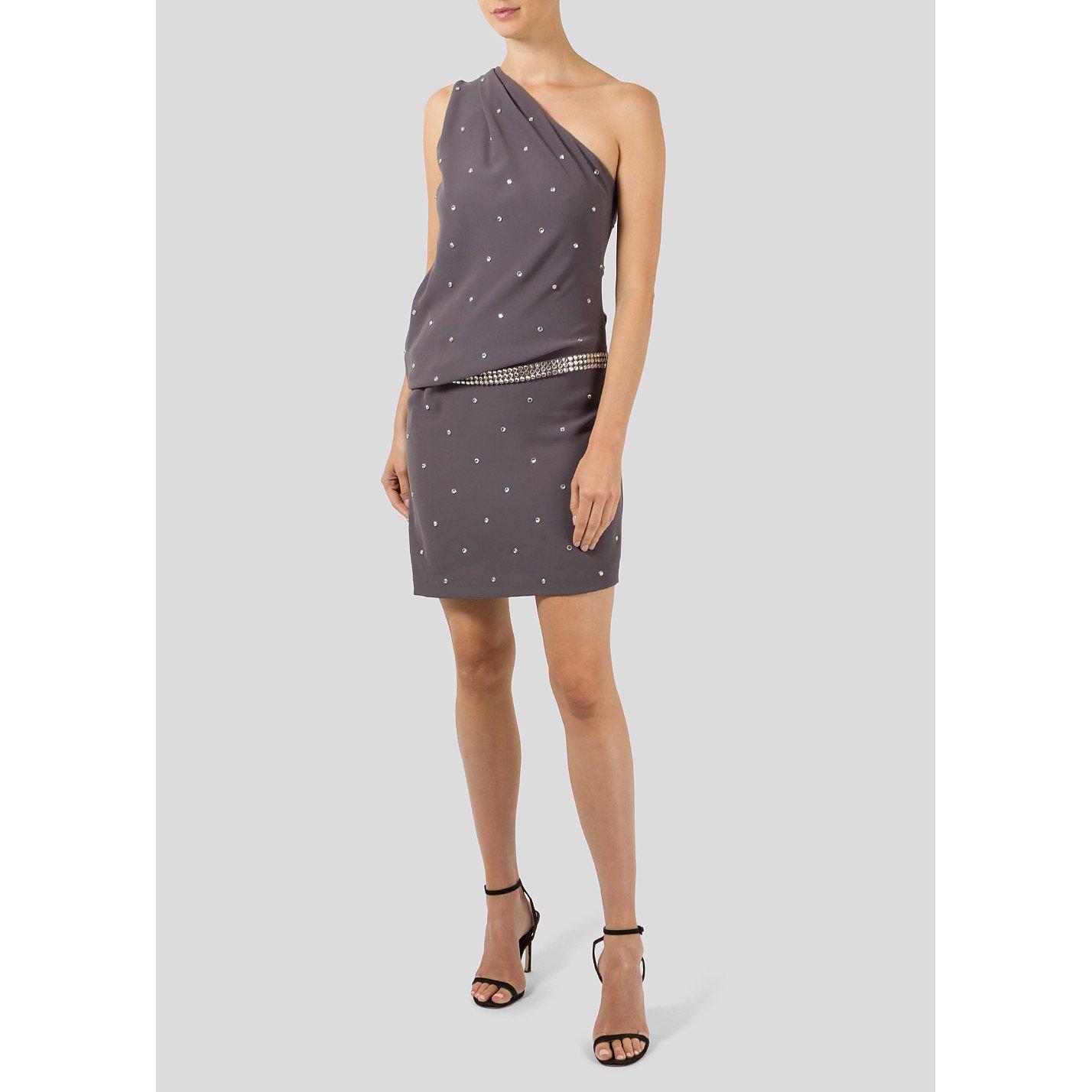 Roberto Cavalli Embellished One-Shouldered Dress