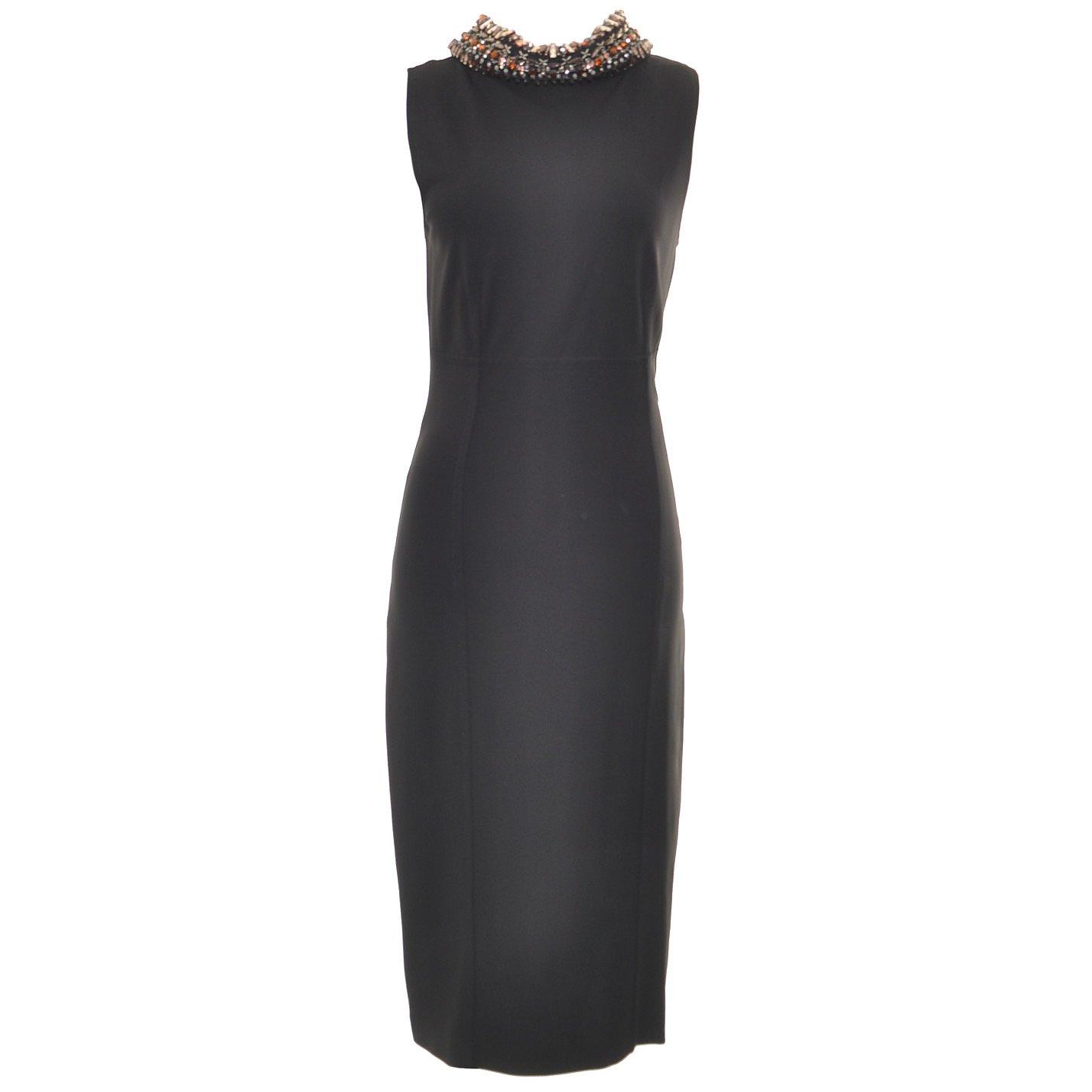 Valentino Embellished-Collar Dress