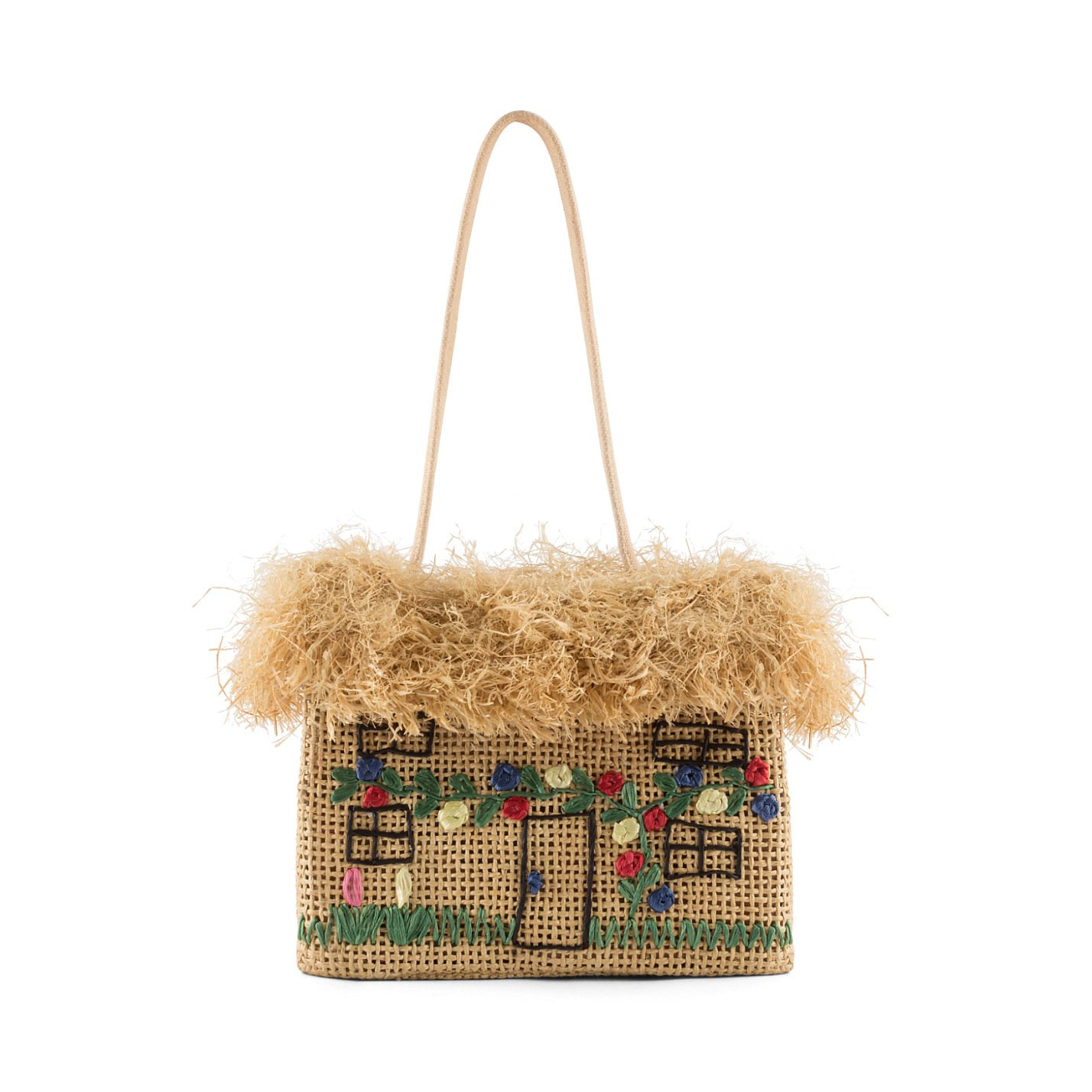 Lulu Guinness Straw House Bag