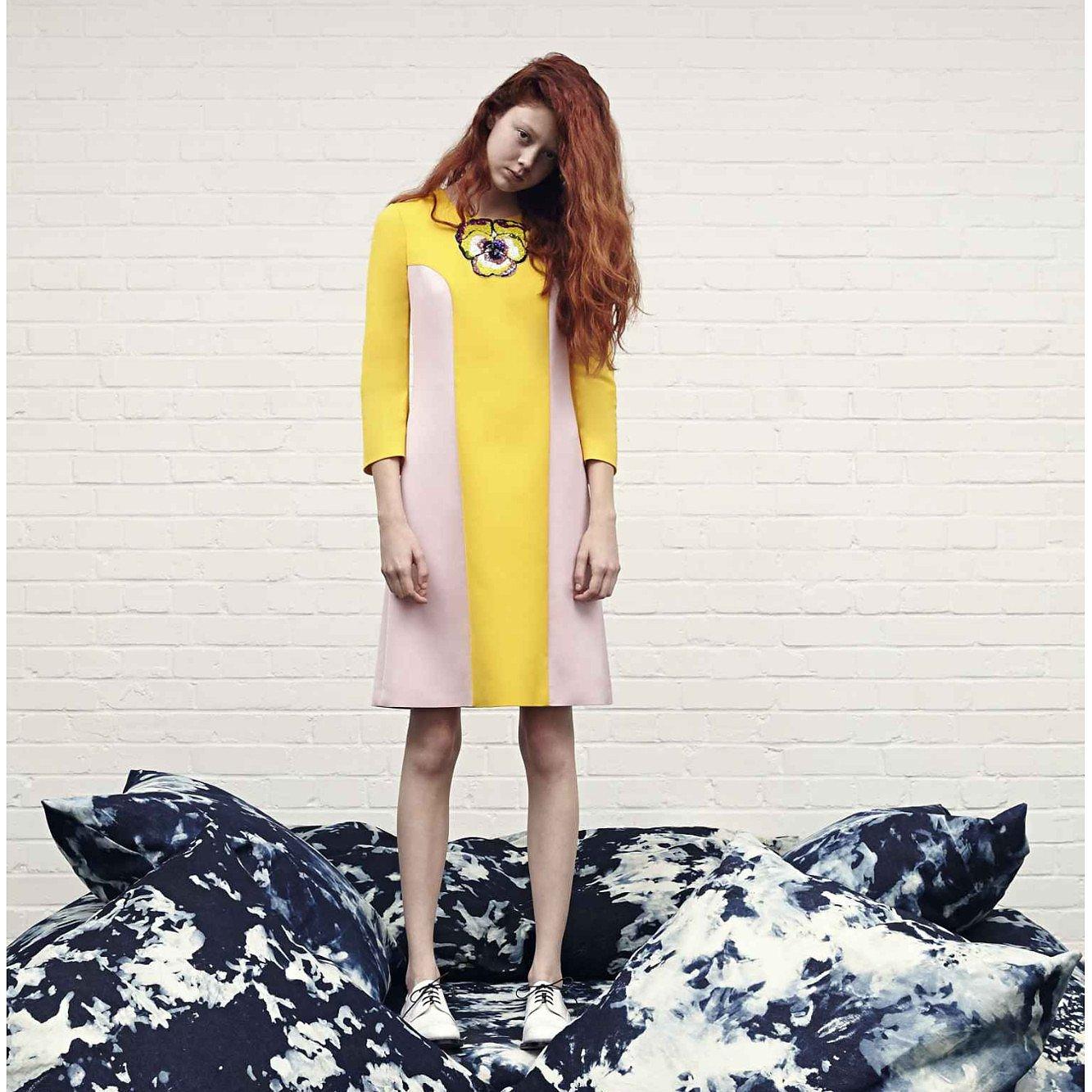 Giles Colour-Block Shift Dress