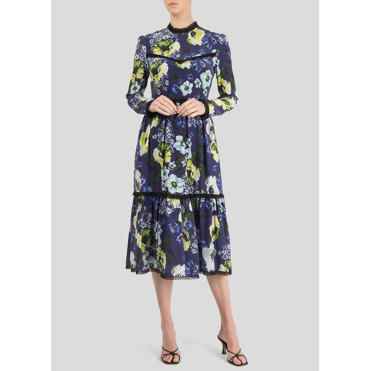 Erdem Georgie Floral Midi Dress