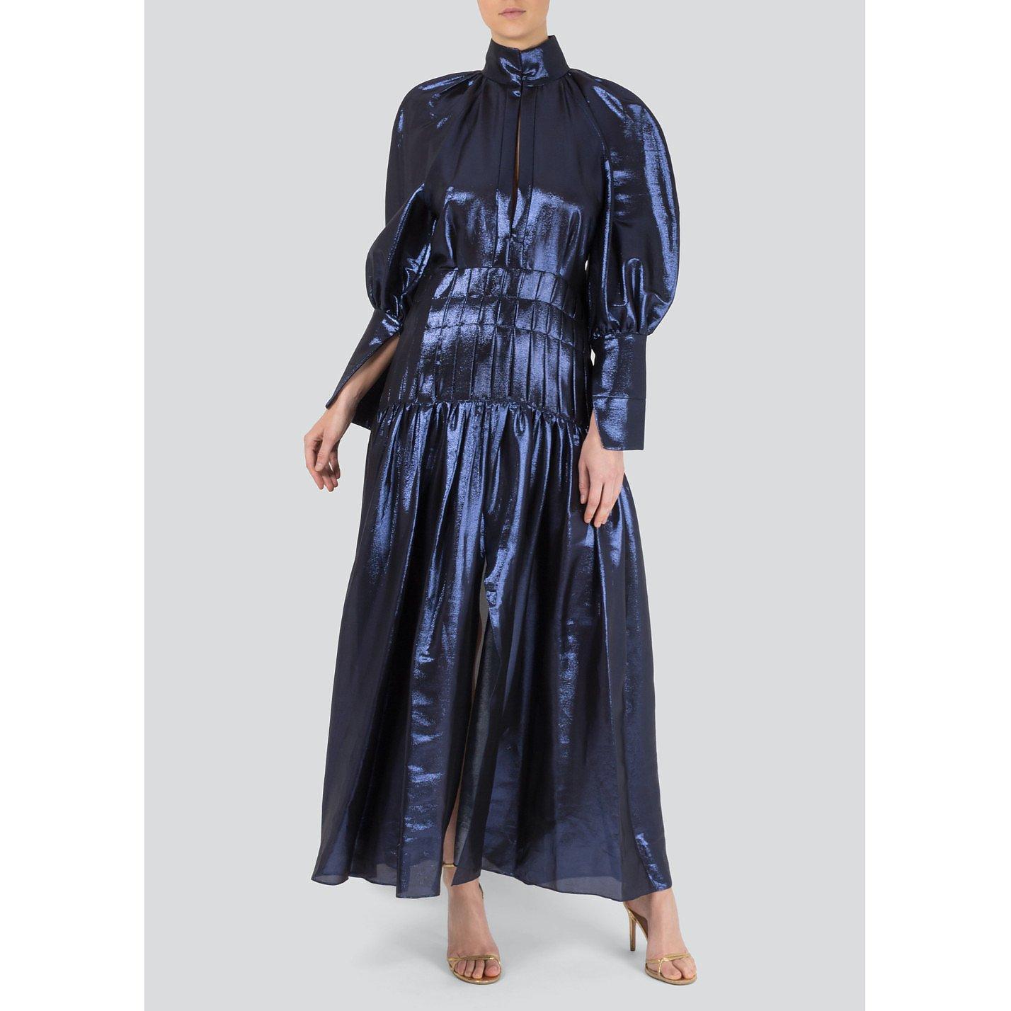 Ellery Metallic Long Dress