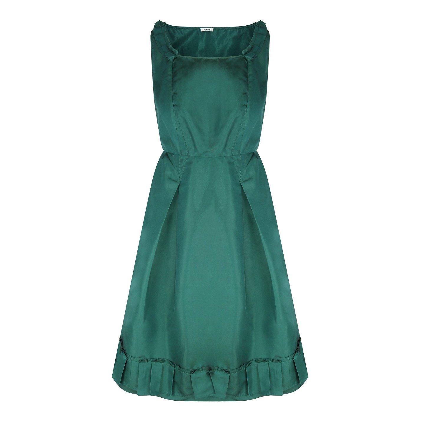 Miu Miu Forest Green Dress