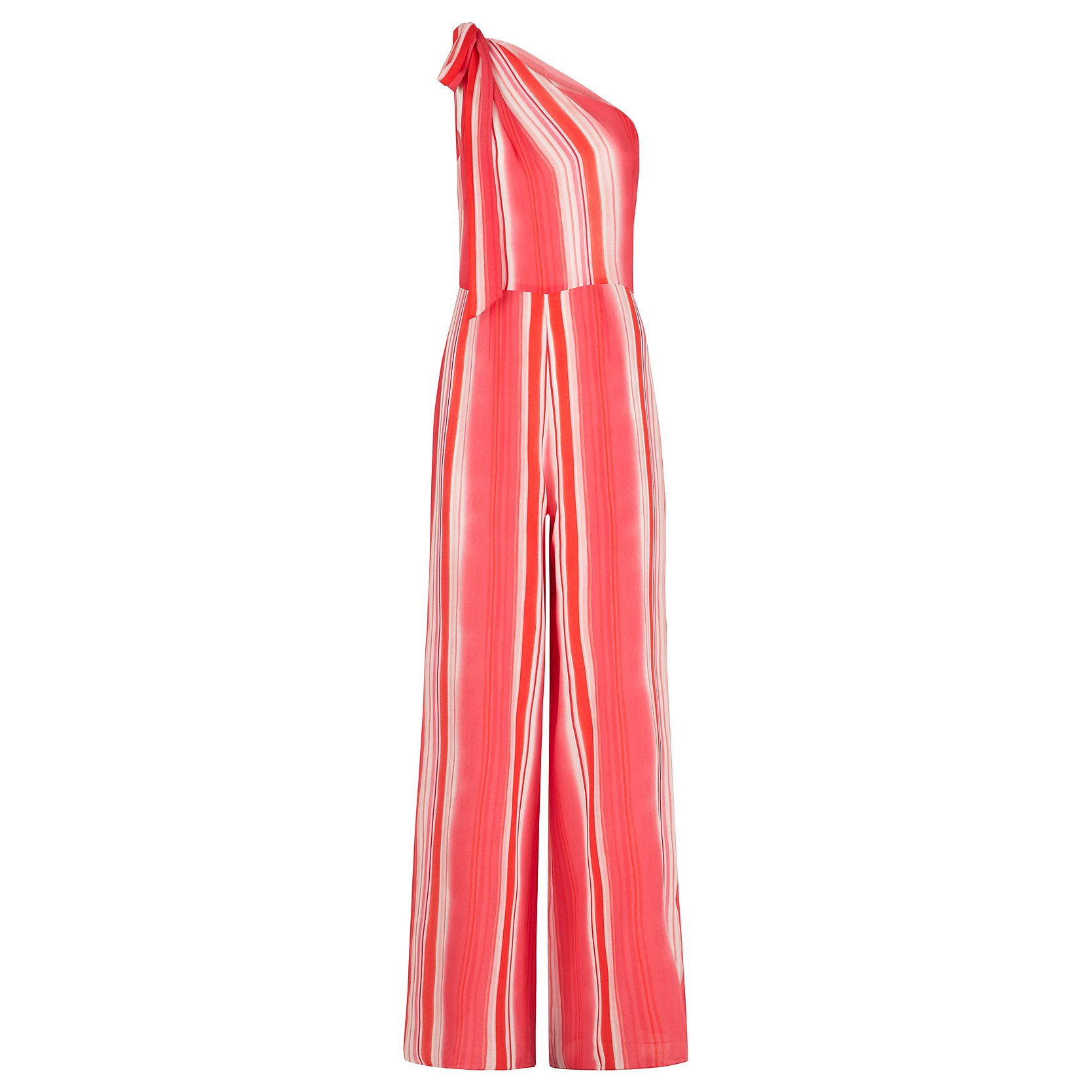 Beulah Devanee Striped One-Shoulder Jumpsuit