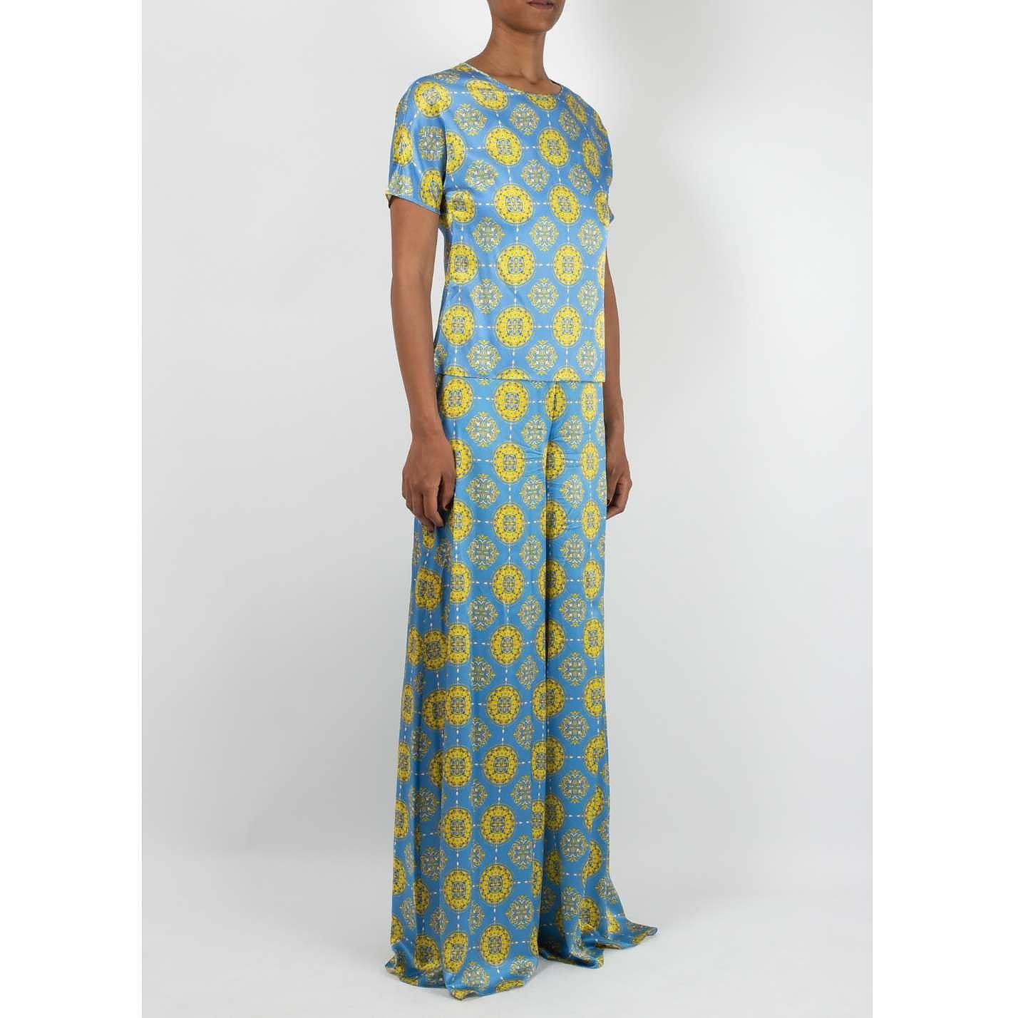 Seren Patterned Silk Top