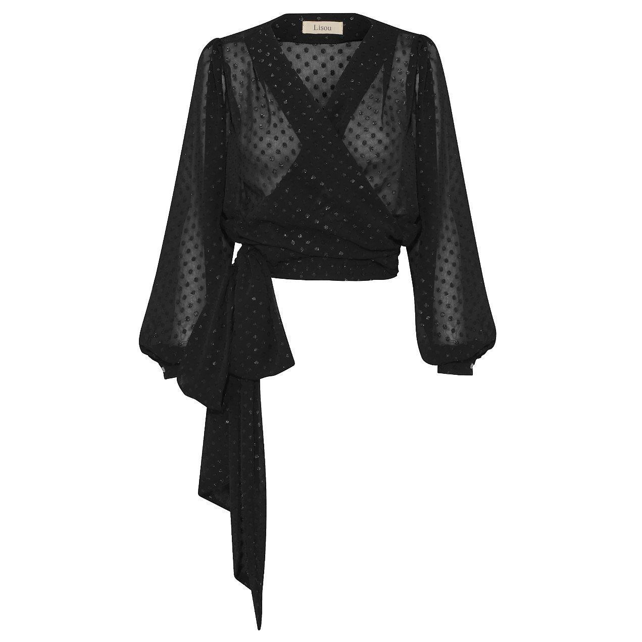 Lisou Delphine Metallic Print Chiffon Shirt