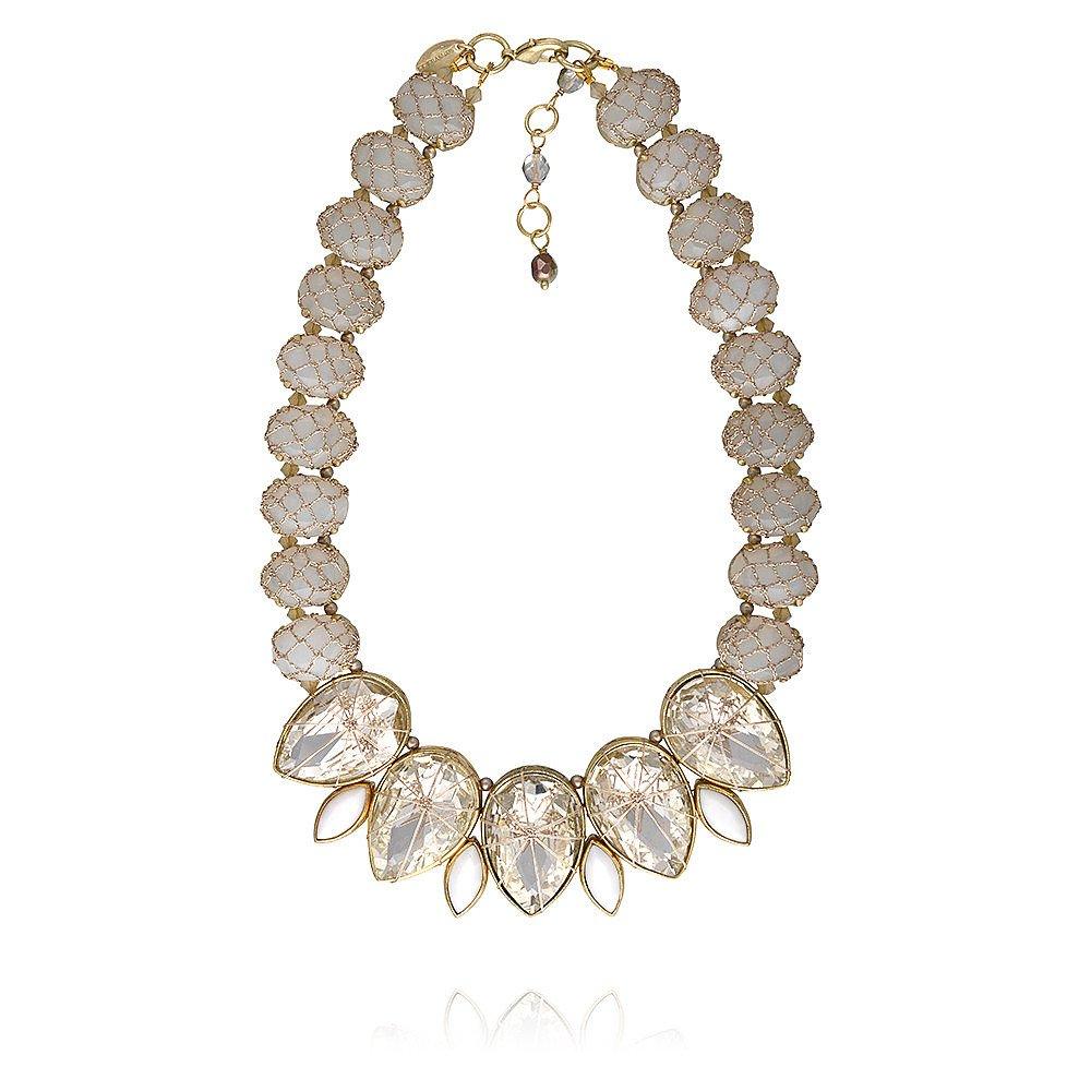 St Erasmus Frangipani Tears of Petals Crystal Necklace
