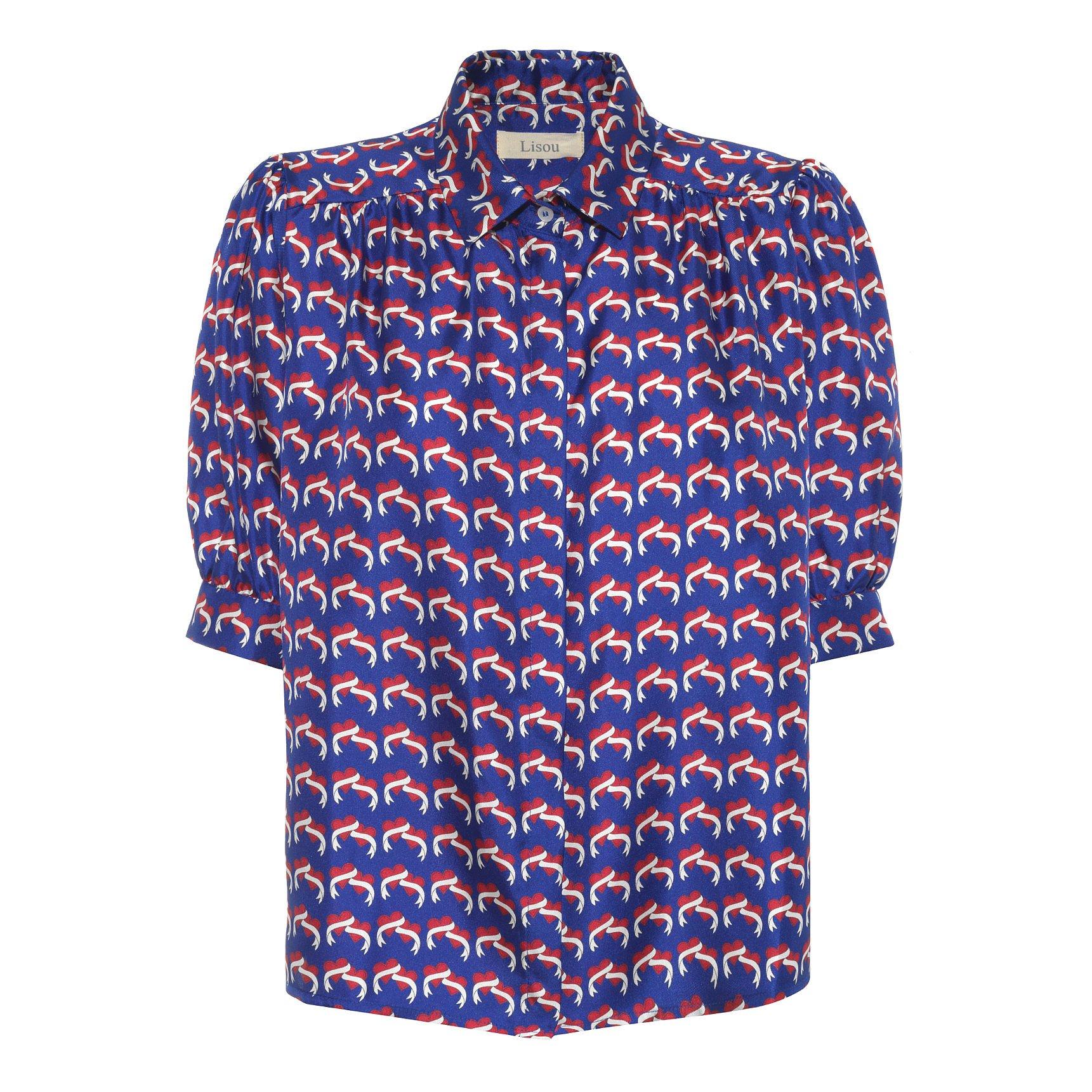 Lisou Betty Love Heart Silk Shirt