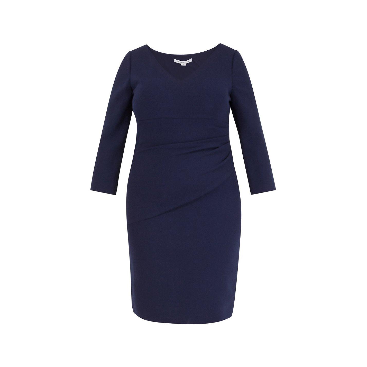Diane von Furstenberg V-Neck Ruched Dress