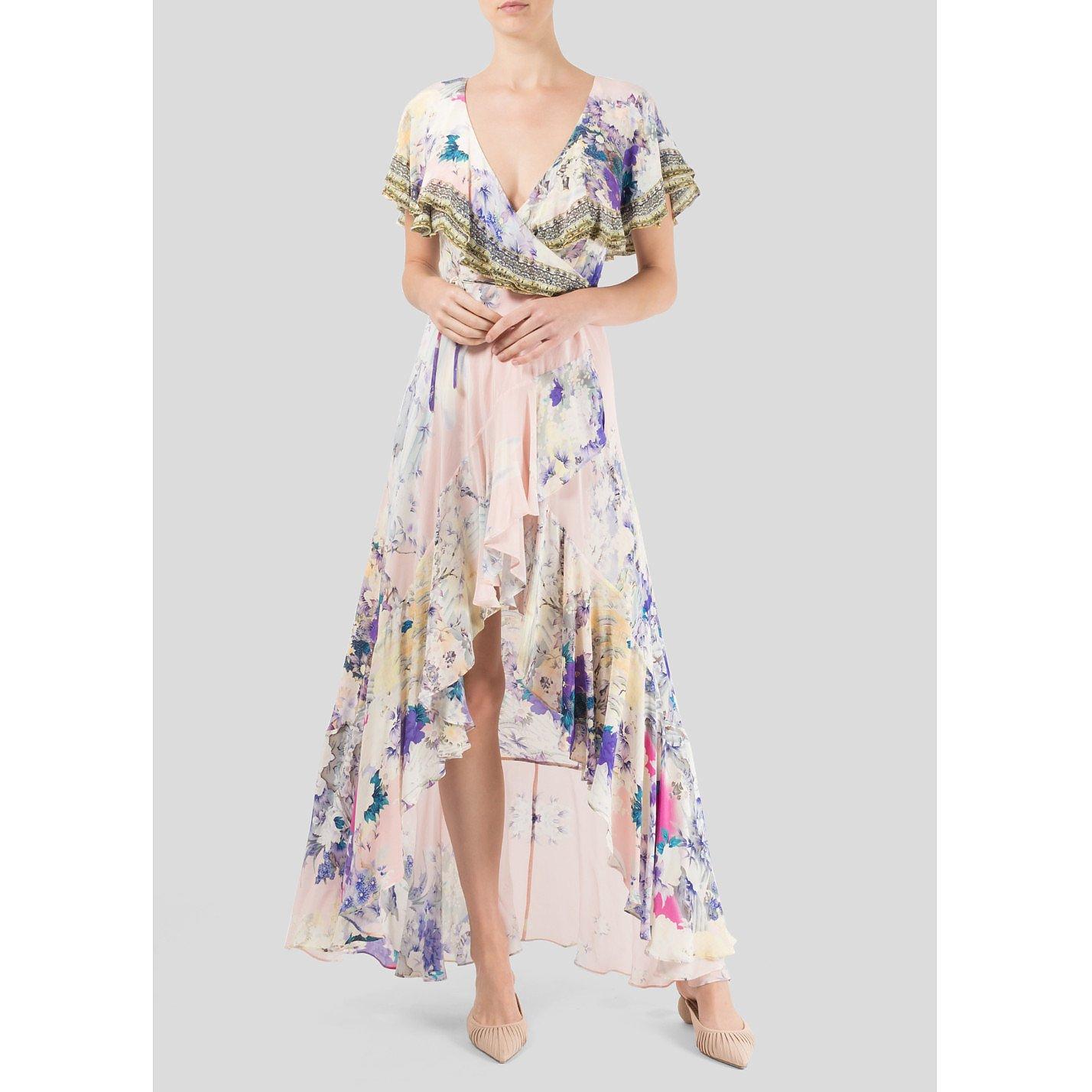 Camilla Floral Print Wrap Dress
