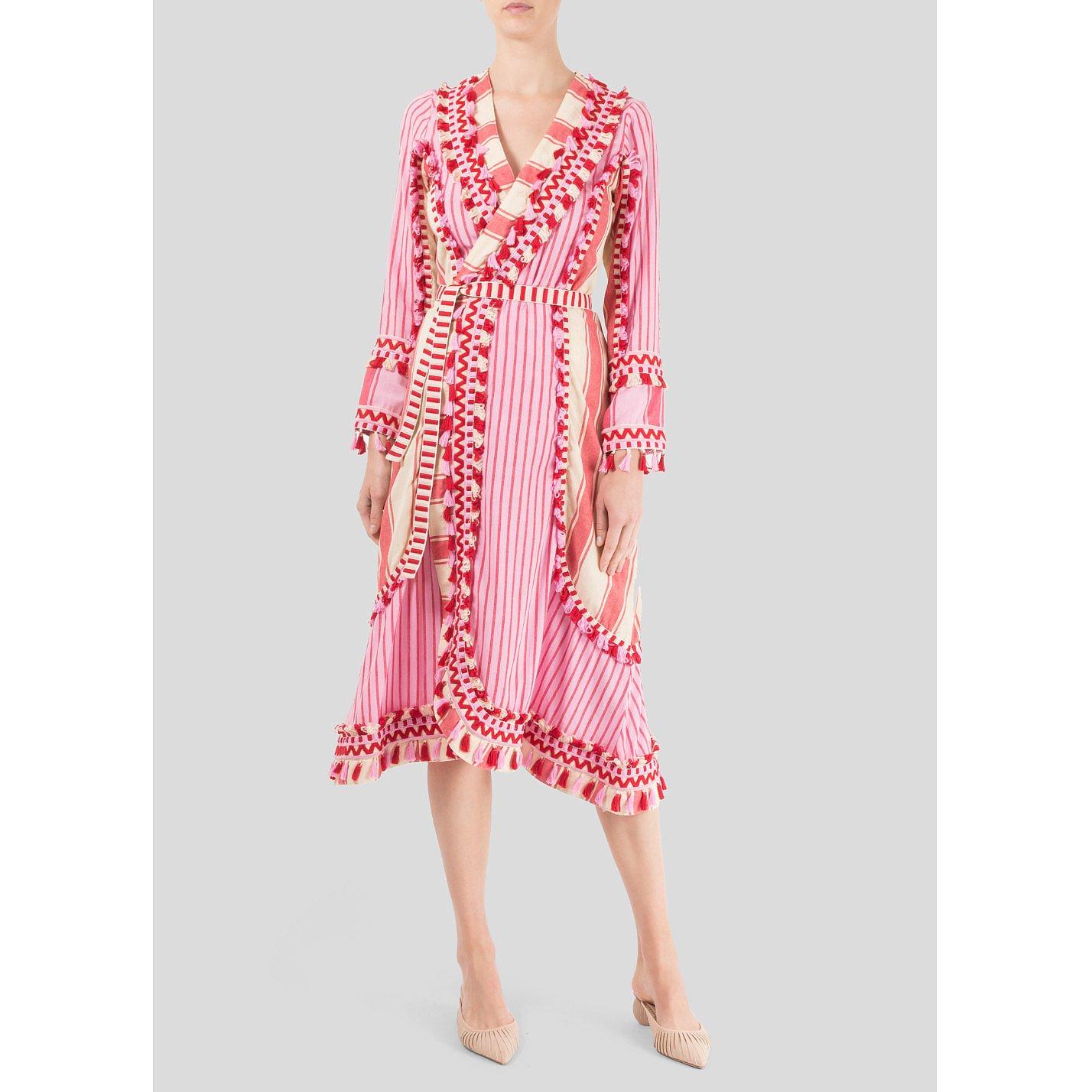 Dodo Bar Or Striped Wrap Dress