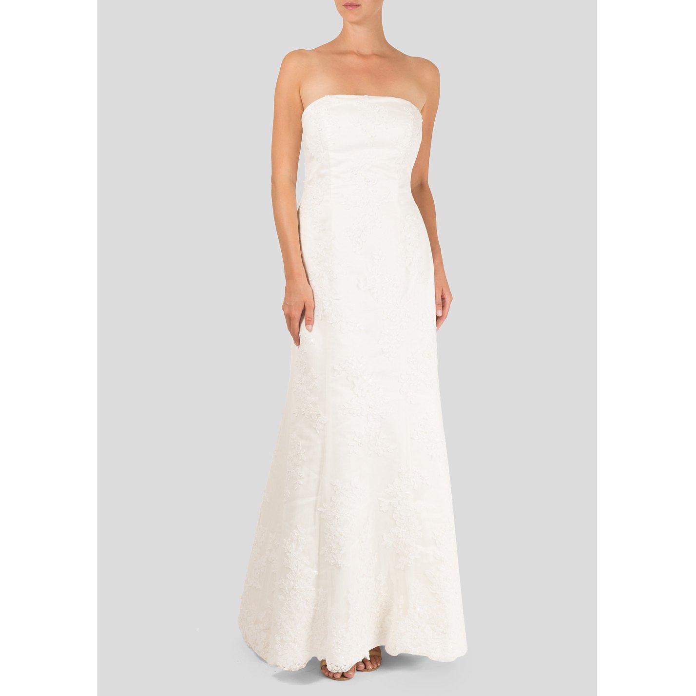 Pronuptia Strapless Embroidered Bridal Dress
