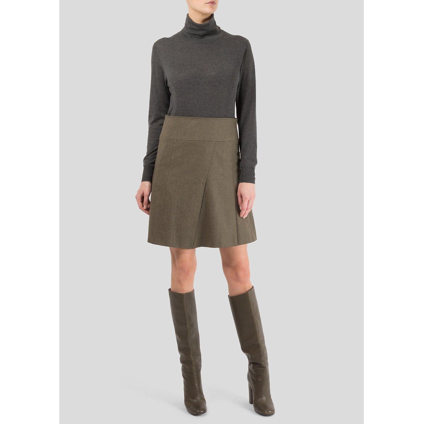 Burberry Pleated Wool Skirt