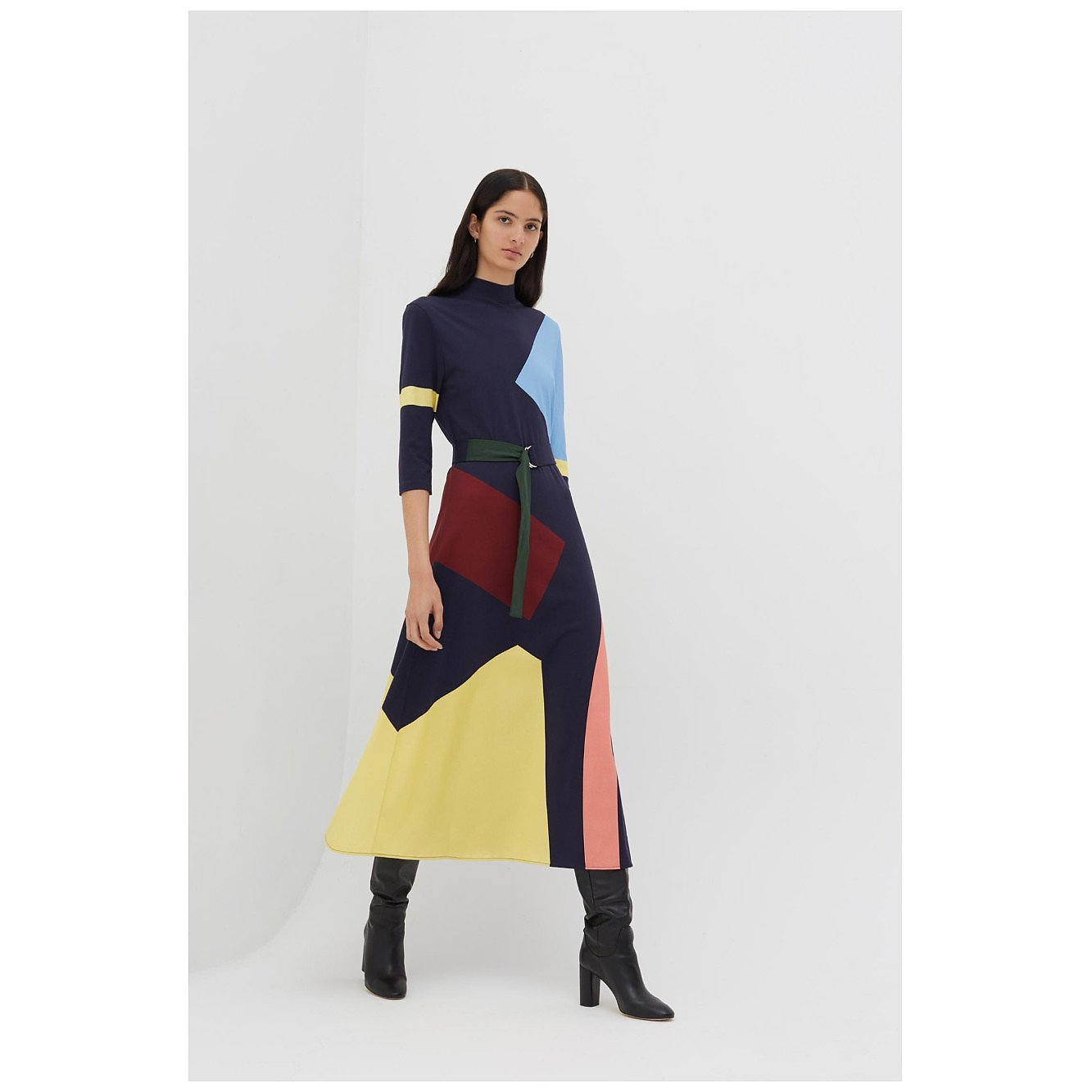 Chinti and Parker Abstract Cotton-Jersey Dress