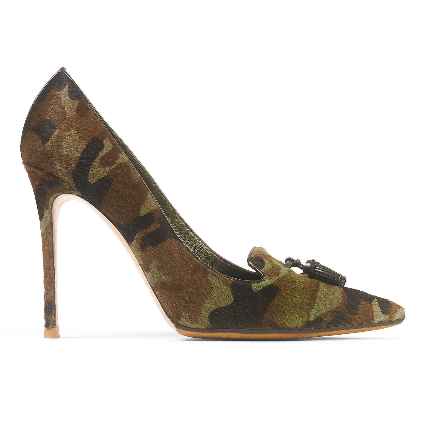 GIANVITO ROSSI Camouflage Print Stiletto Heels