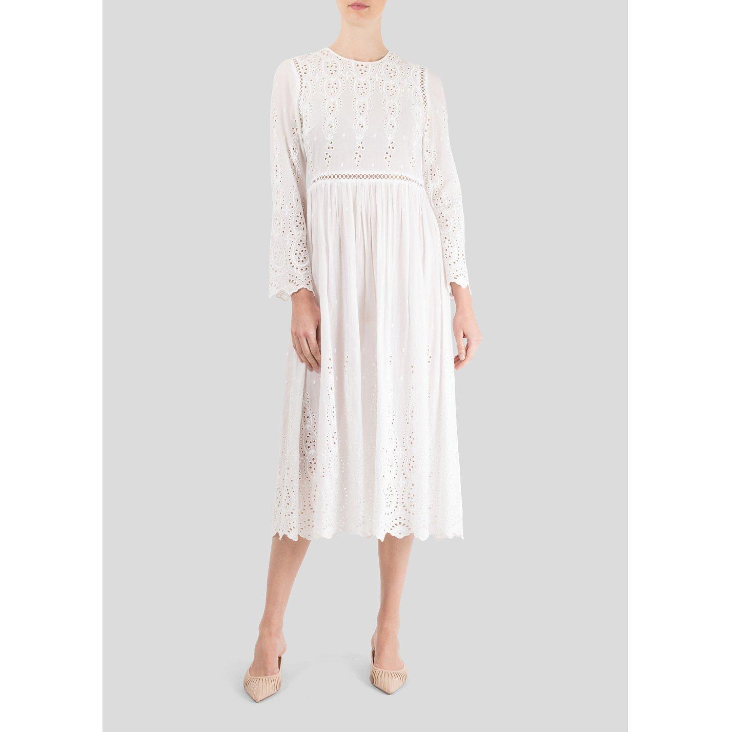 ZIMMERMANN Long Sleeve Midi Dress
