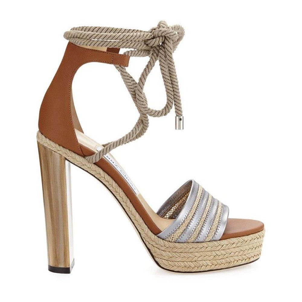 Jimmy Choo Rope-Tie Platform Sandals