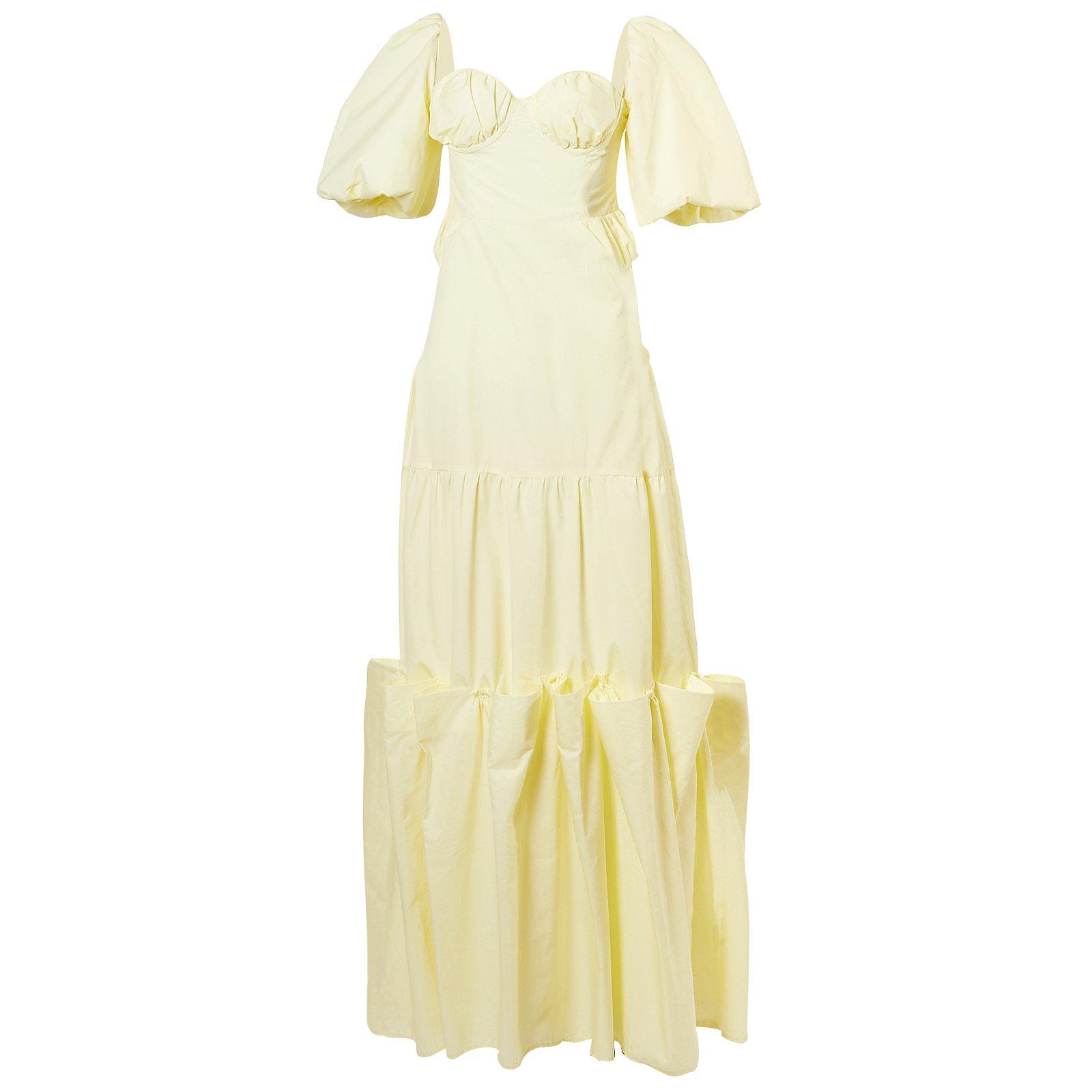 Maison Bent Off-The-Shoulder Gown