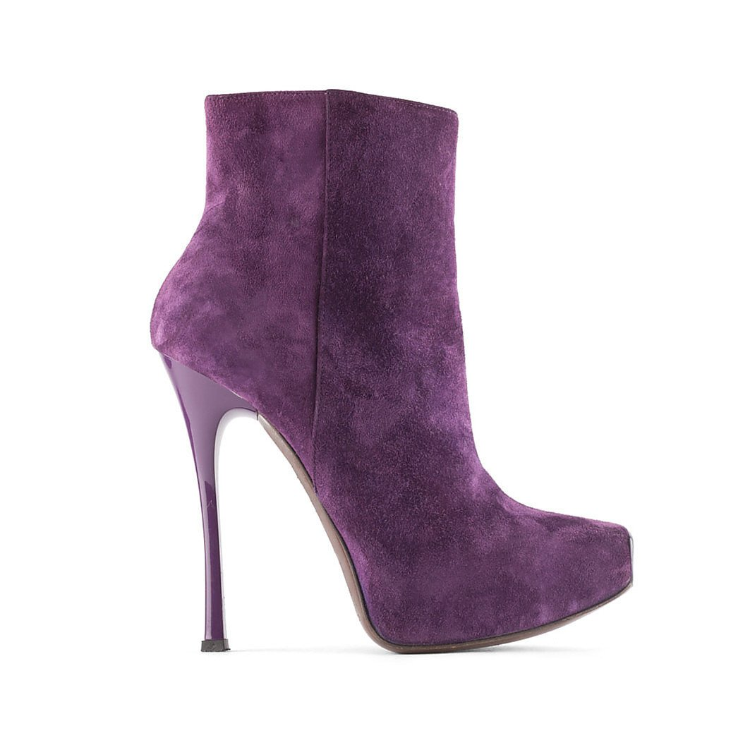 Gianmarco Lorenzi Square Toe Suede Boots