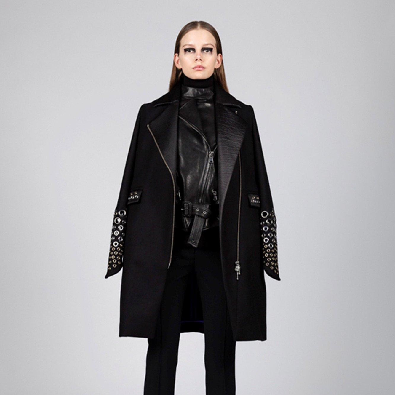Manuel Facchini Leather-Trimmed Coat