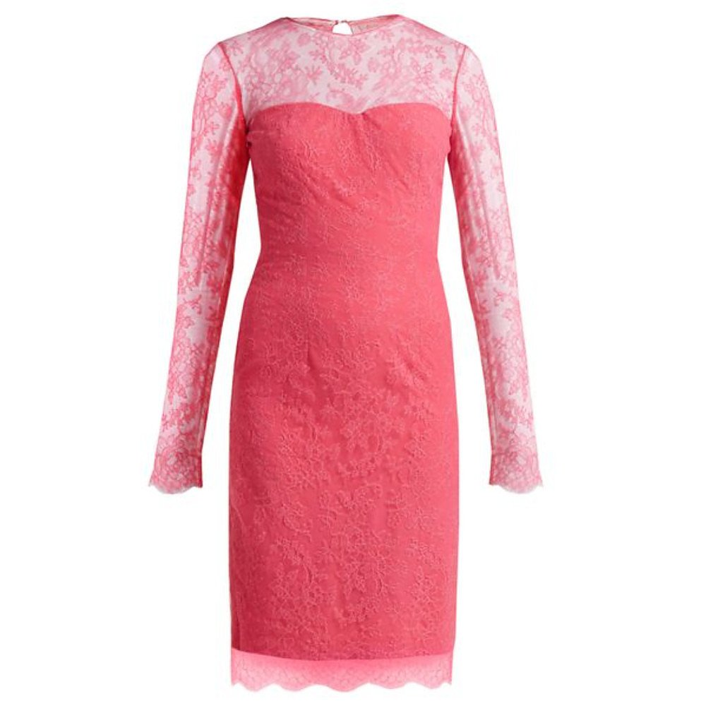 Emilio De La Morena Mona Lace And Silk Blend Dress