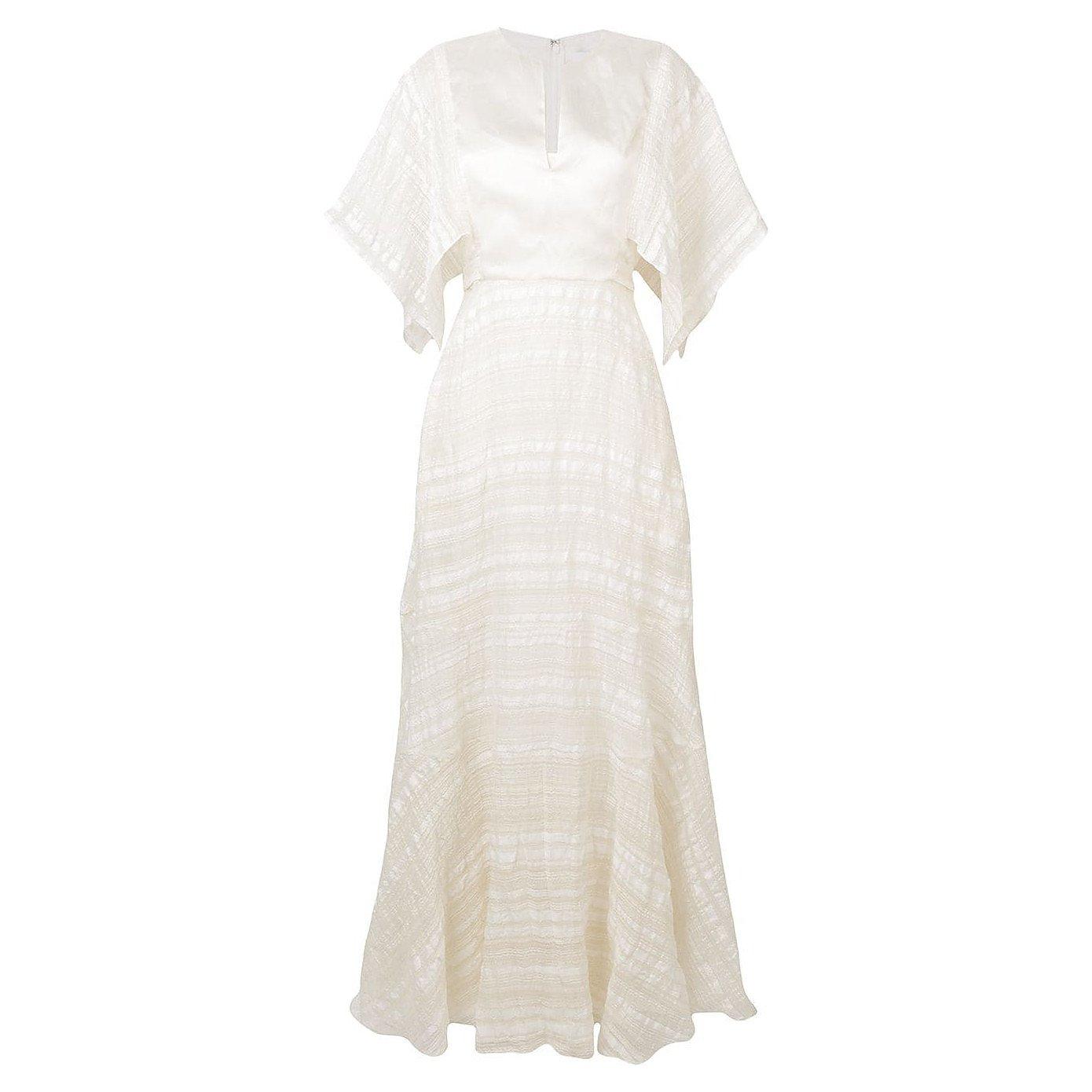 Noon By Noor Lou Yoke Front Long Dress