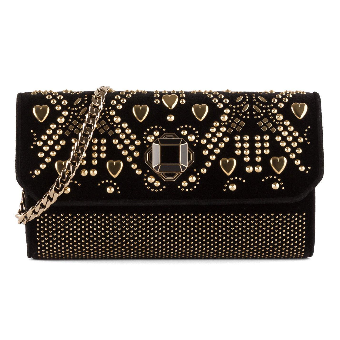 Elie Saab Studded Velvet Bag