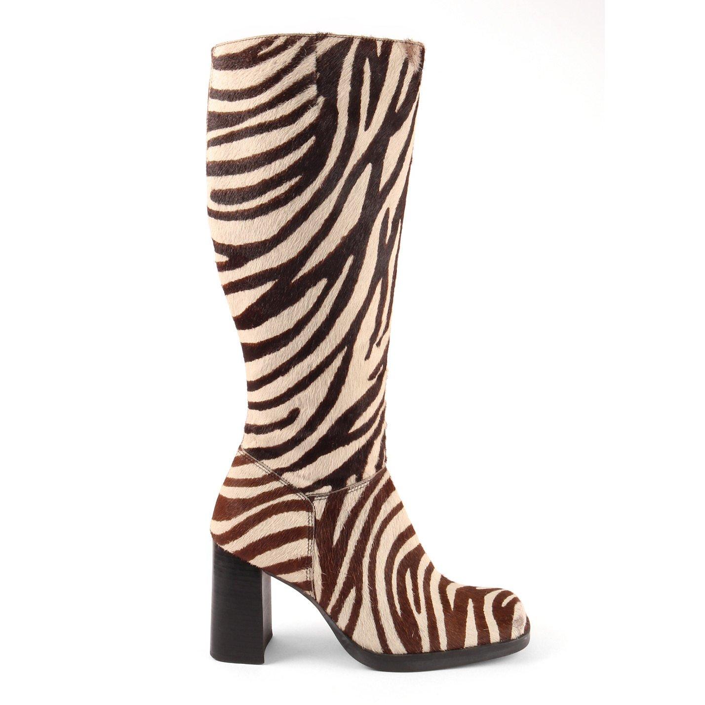 Vintage Ponyskin Zebra Boots