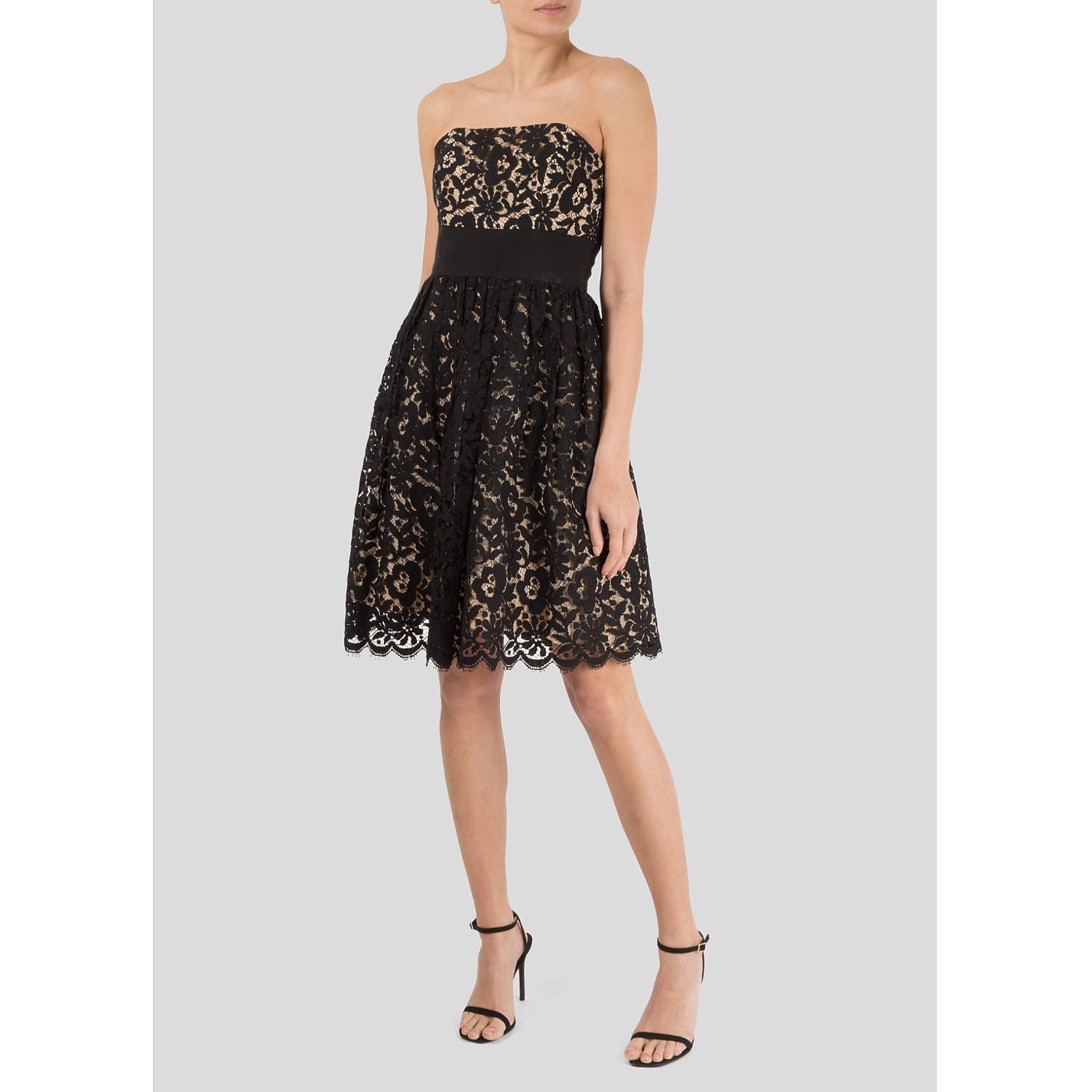 MILLY New York Strapless Lace Dress