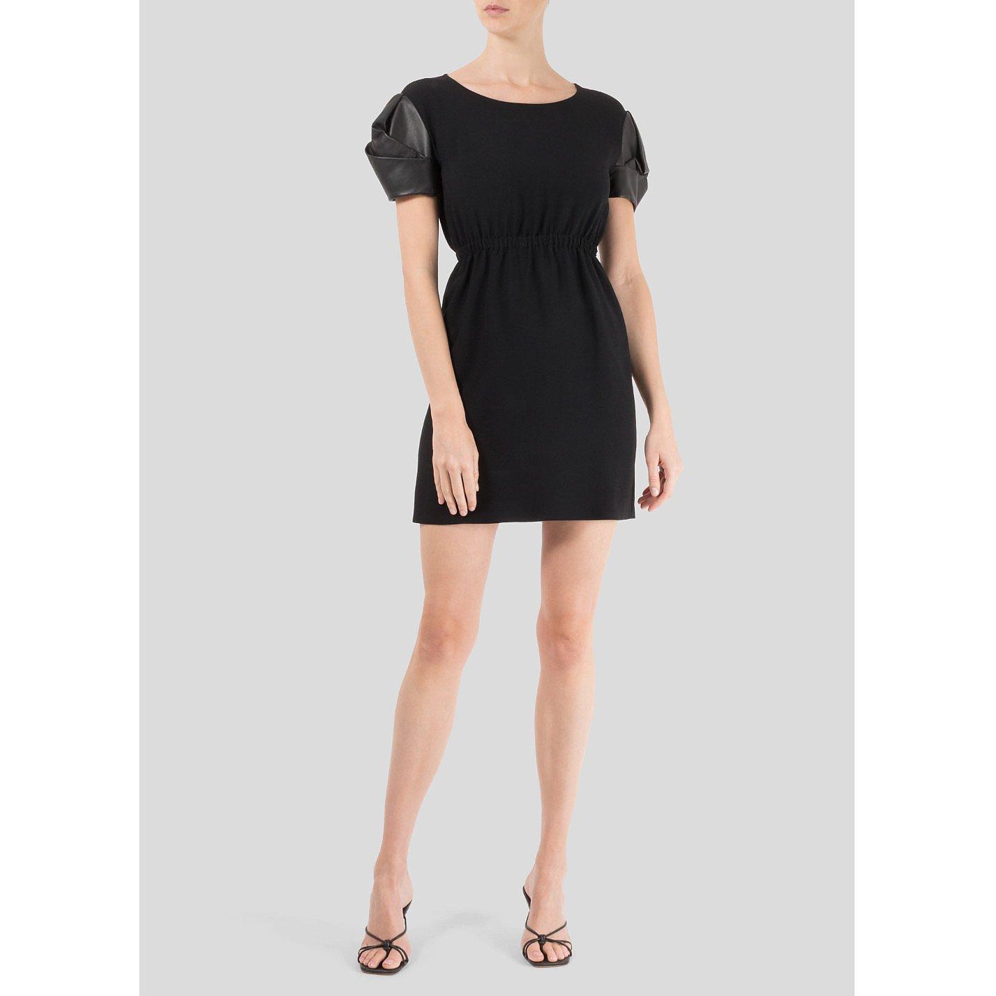Miu Miu Contrast-Sleeve Mini Dress