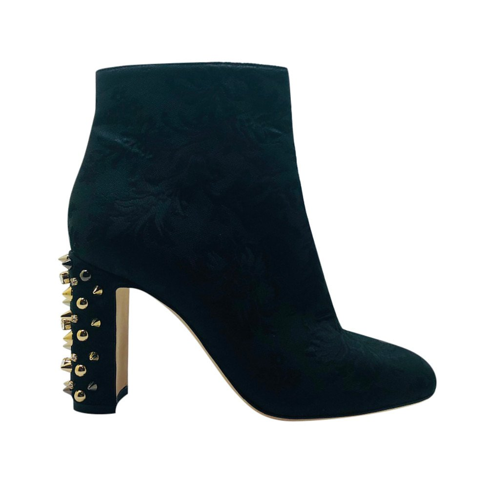 DOLCE & GABBANA Brocade Studded Ankle Boots